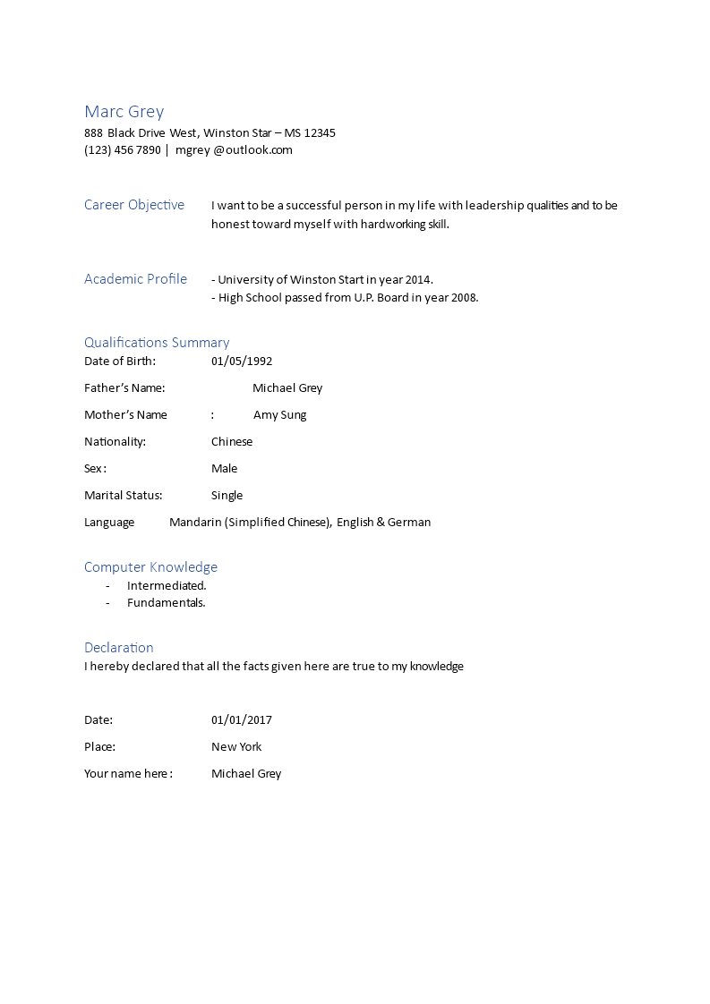 free biodata template in word format templates at