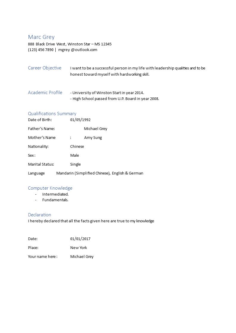 editable biodata format