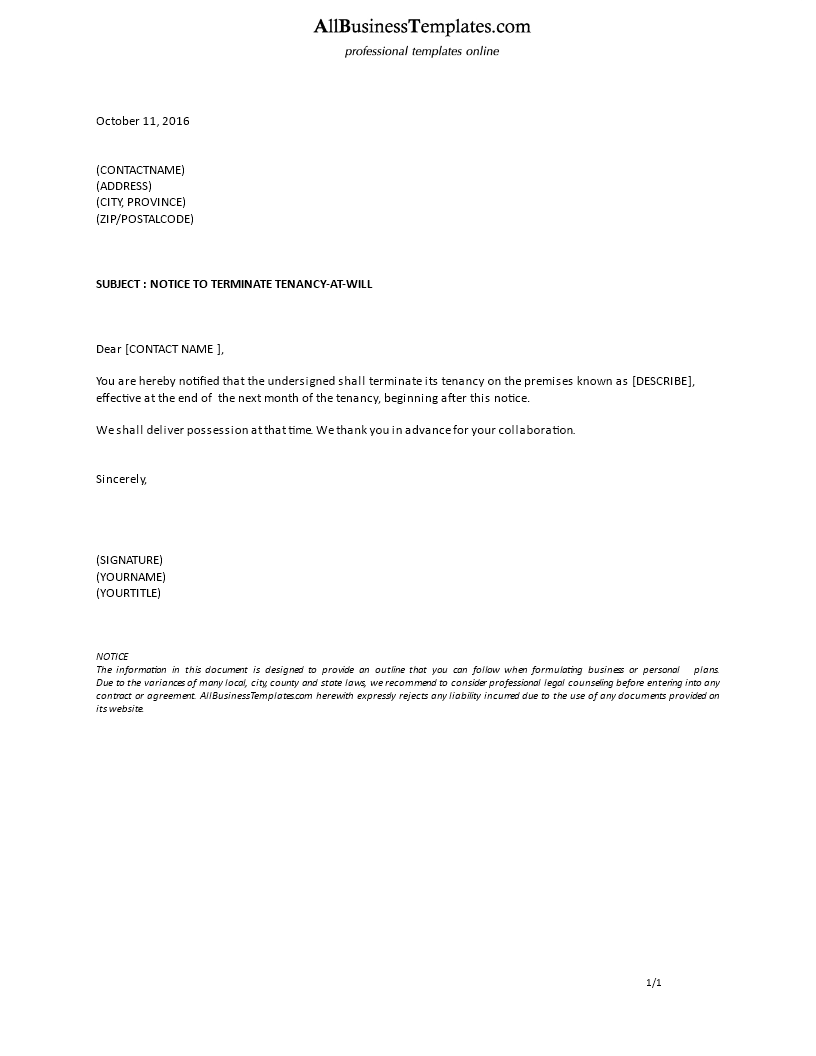 Certified letter from tenant 28 images certified for Landlord end of tenancy letter template