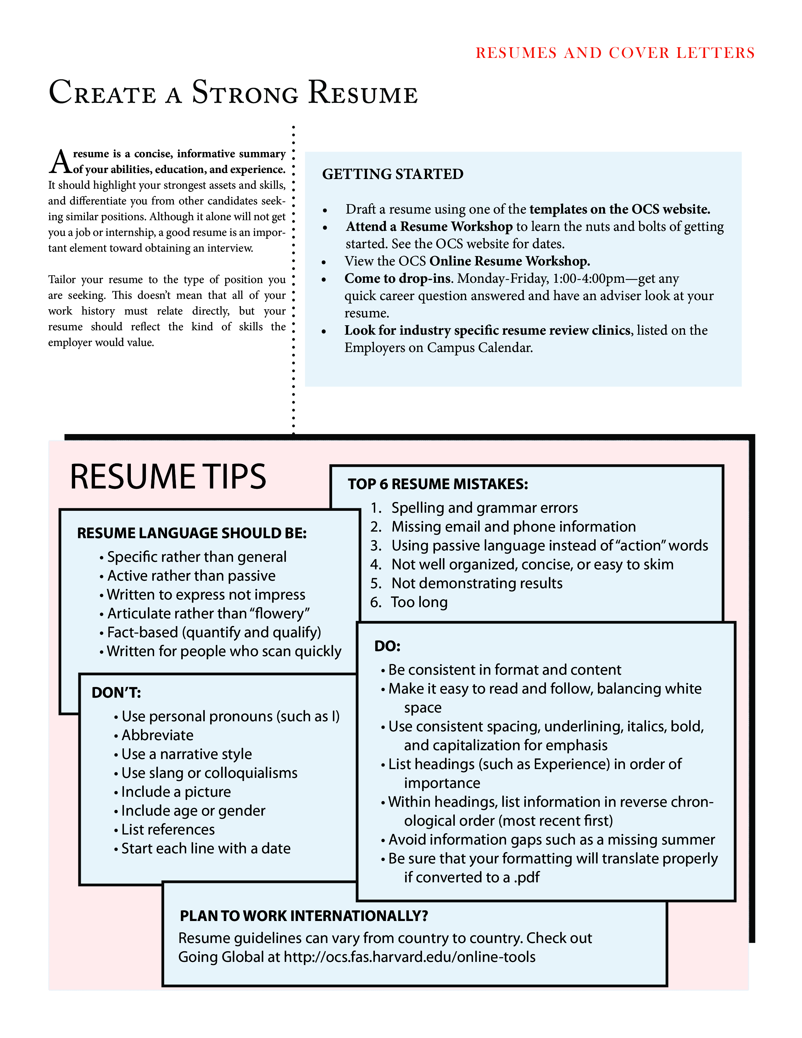 Kostenloses Effective Resume Design with Instructions