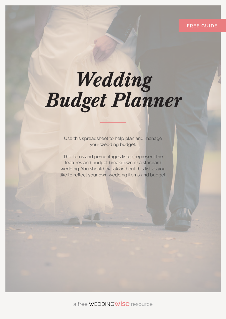 free printable wedding budget planner templates at