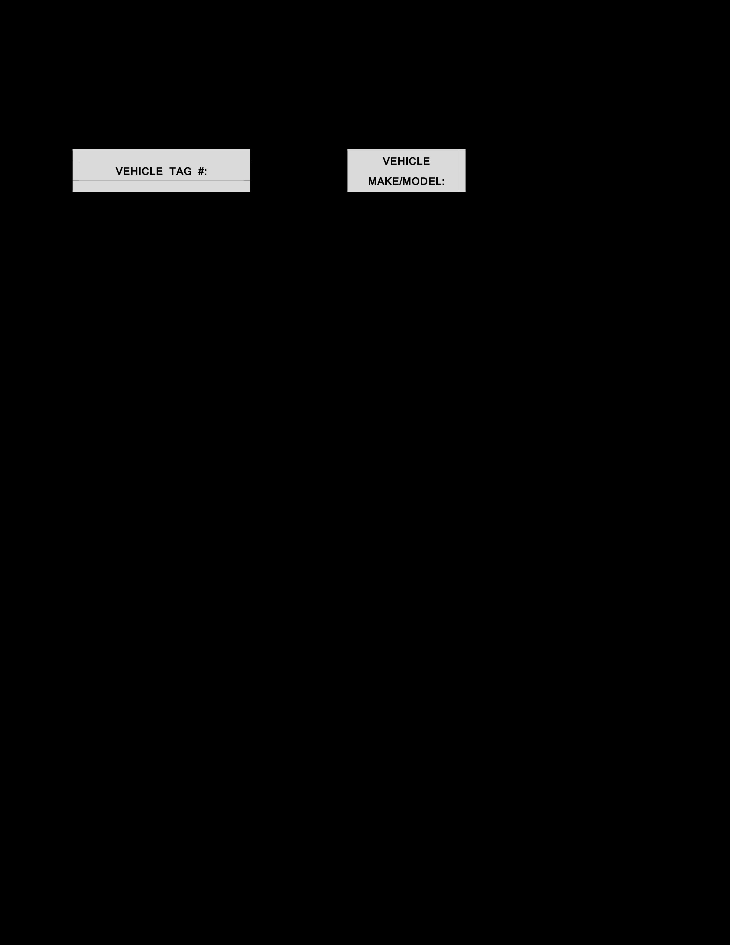 vehicle maintenance log sheet