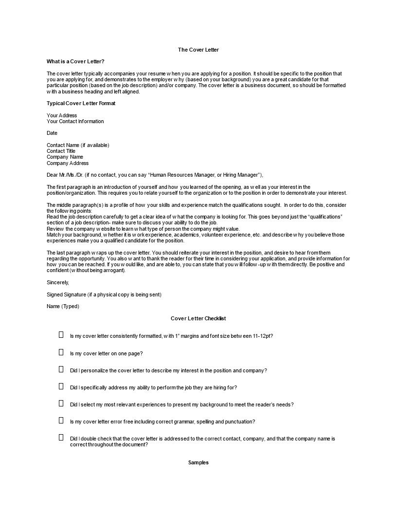Cover Letter Font Size from www.allbusinesstemplates.com