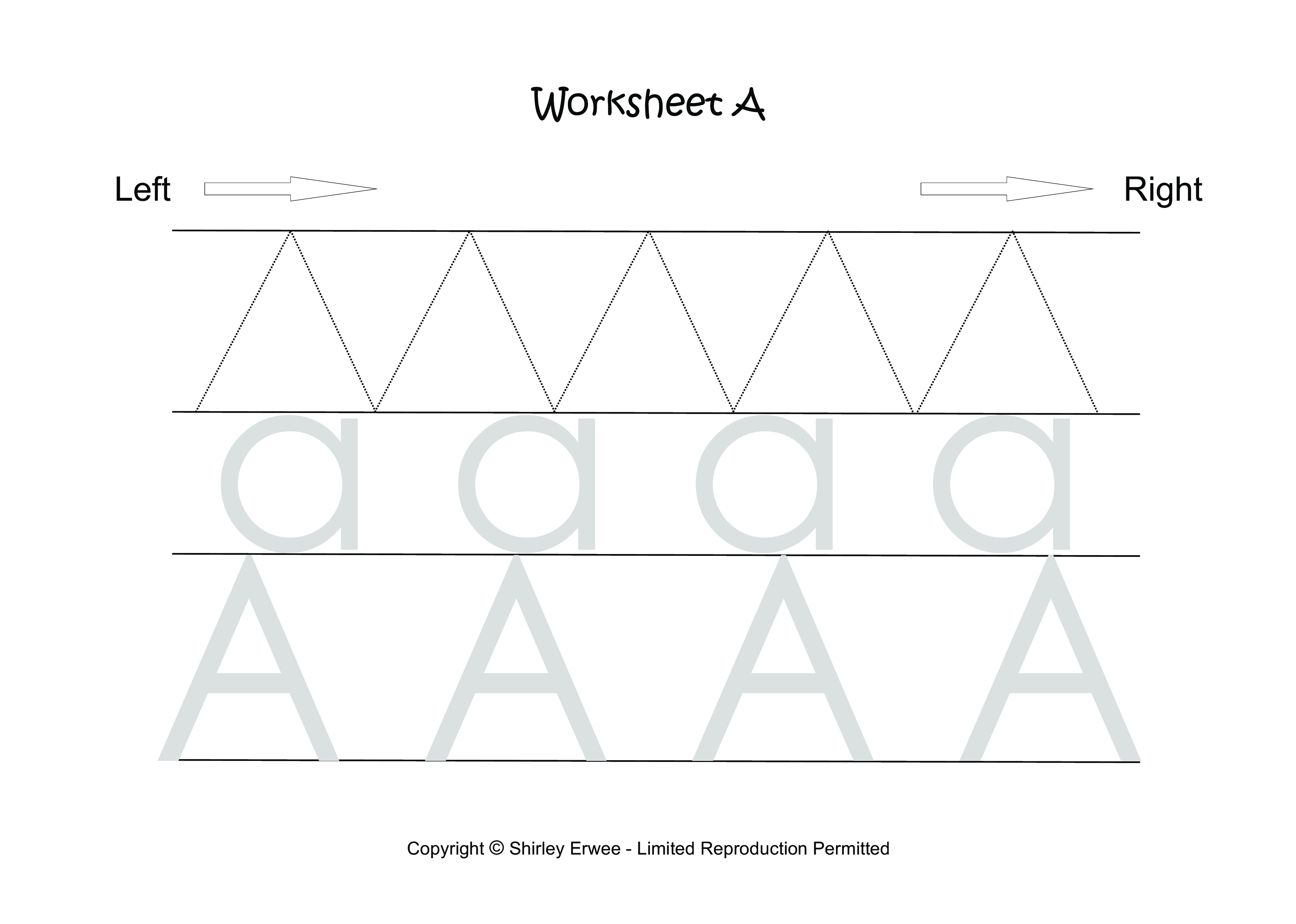 Preschool Writing Alphabet Sheets A To Z Main Image Download Template