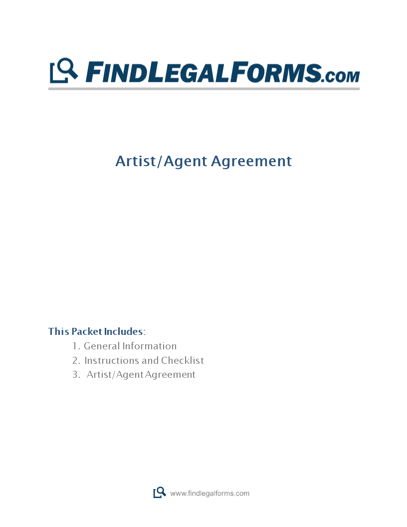 Artist Agent Contract Main Image Download Template