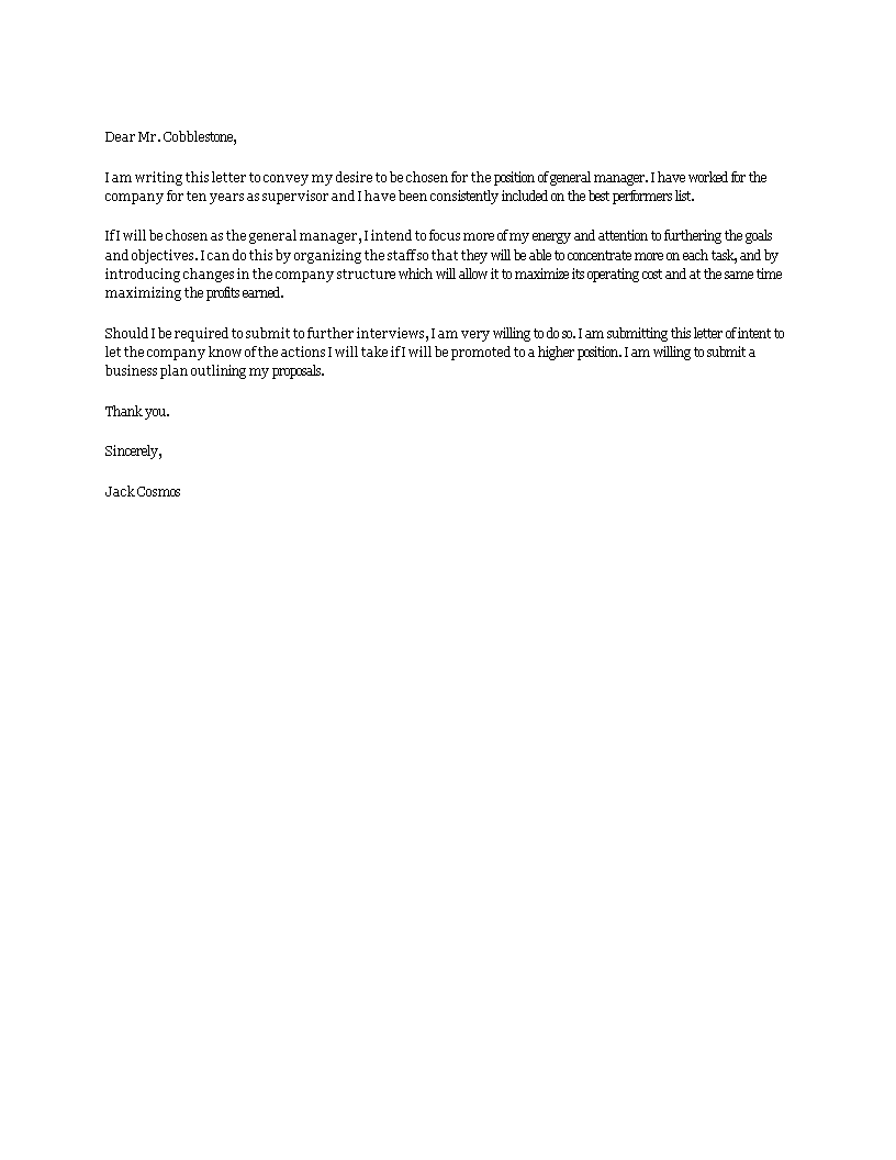 Sample Letter Of Intent For A Higher Position from www.allbusinesstemplates.com