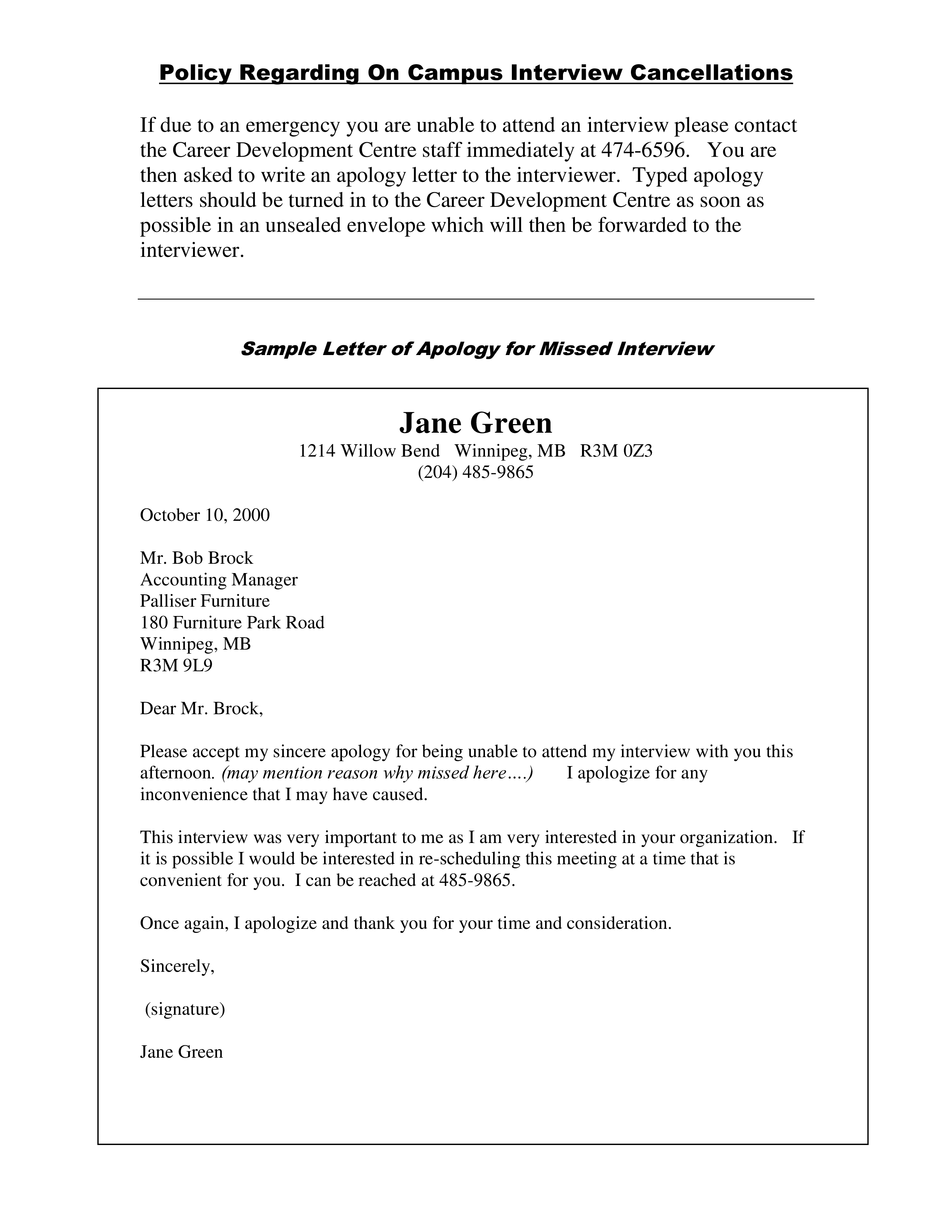 job interview apology letter main image download template