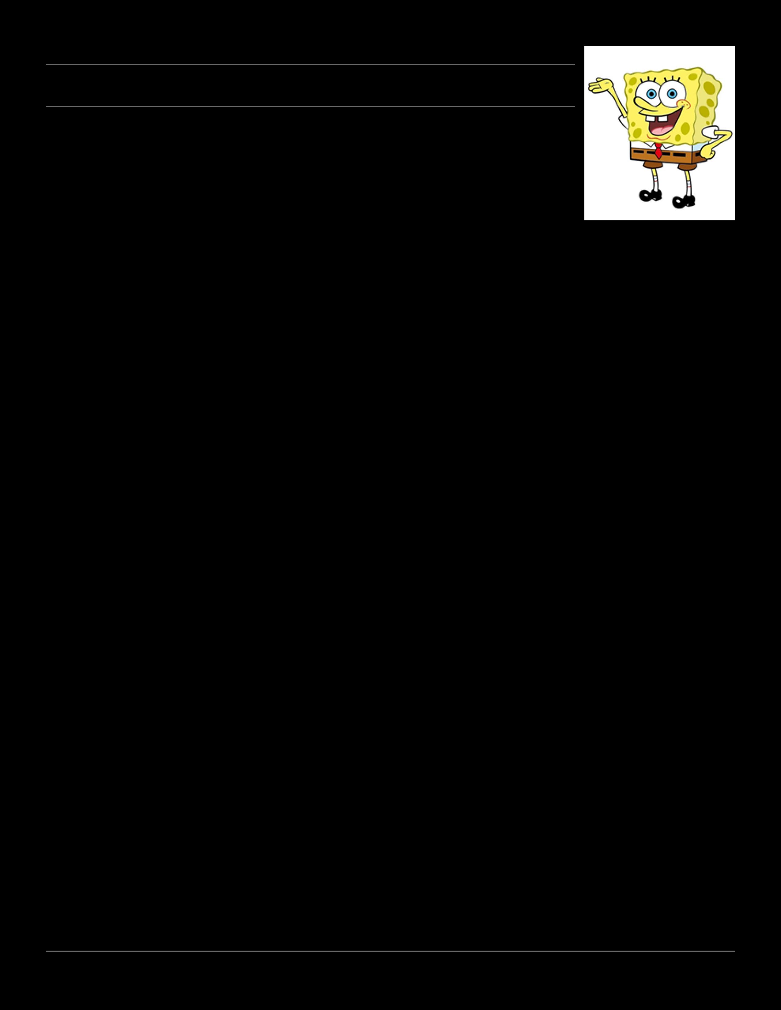 Free Spongebob Squarepants Word Search Templates At