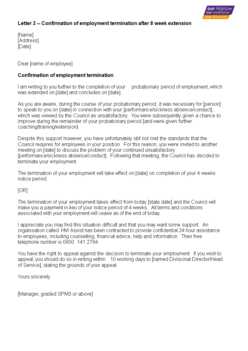 employment termination confirmation letter main image