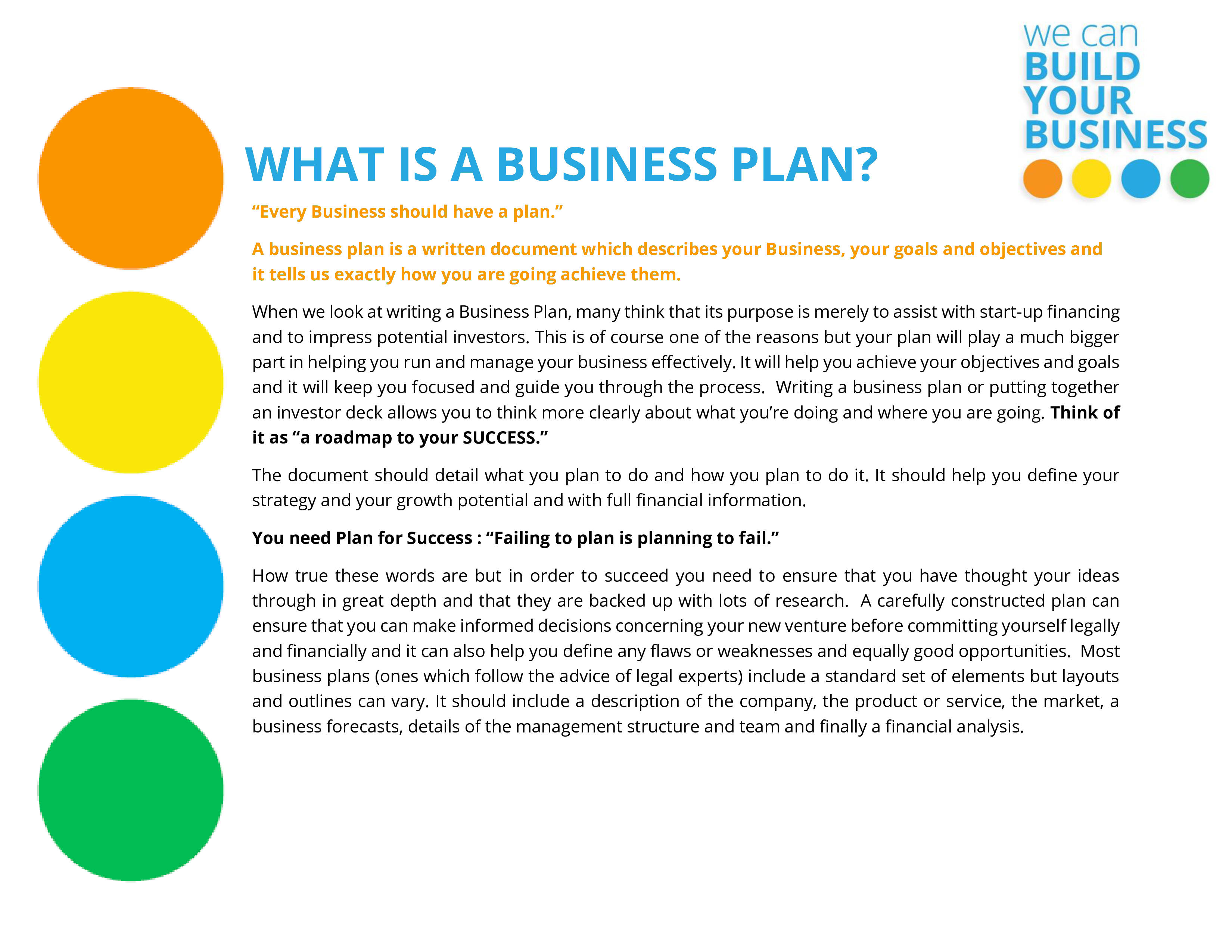 Business Plan Guidance Template main image