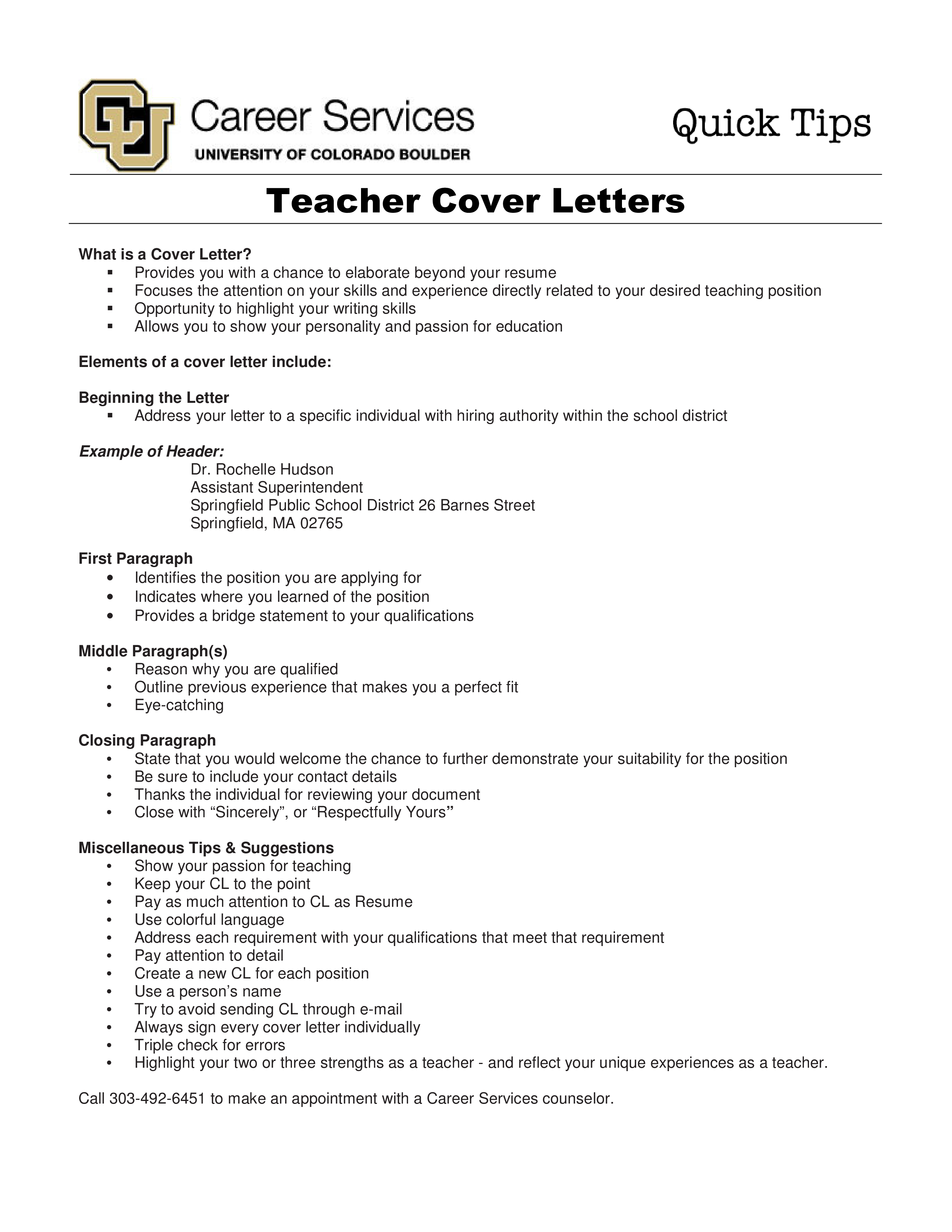 Free Job Application Cover Letter For Teacher Templates At