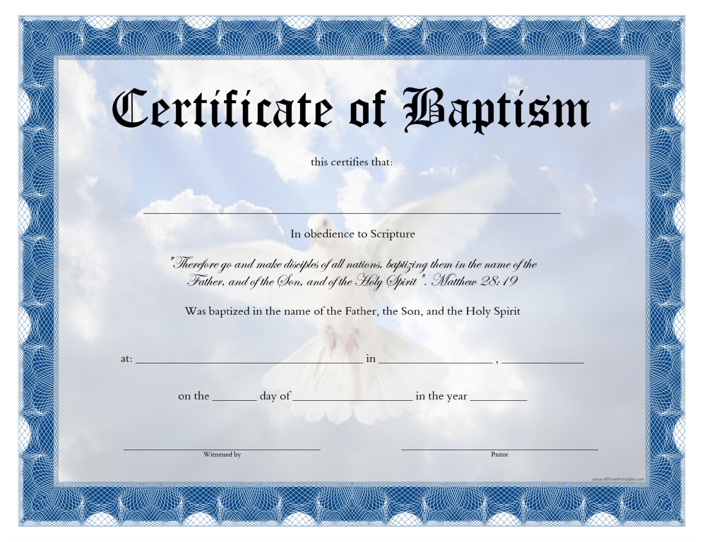 Free baptism certificate templates at allbusinesstemplates baptism certificate main image download template alramifo Choice Image