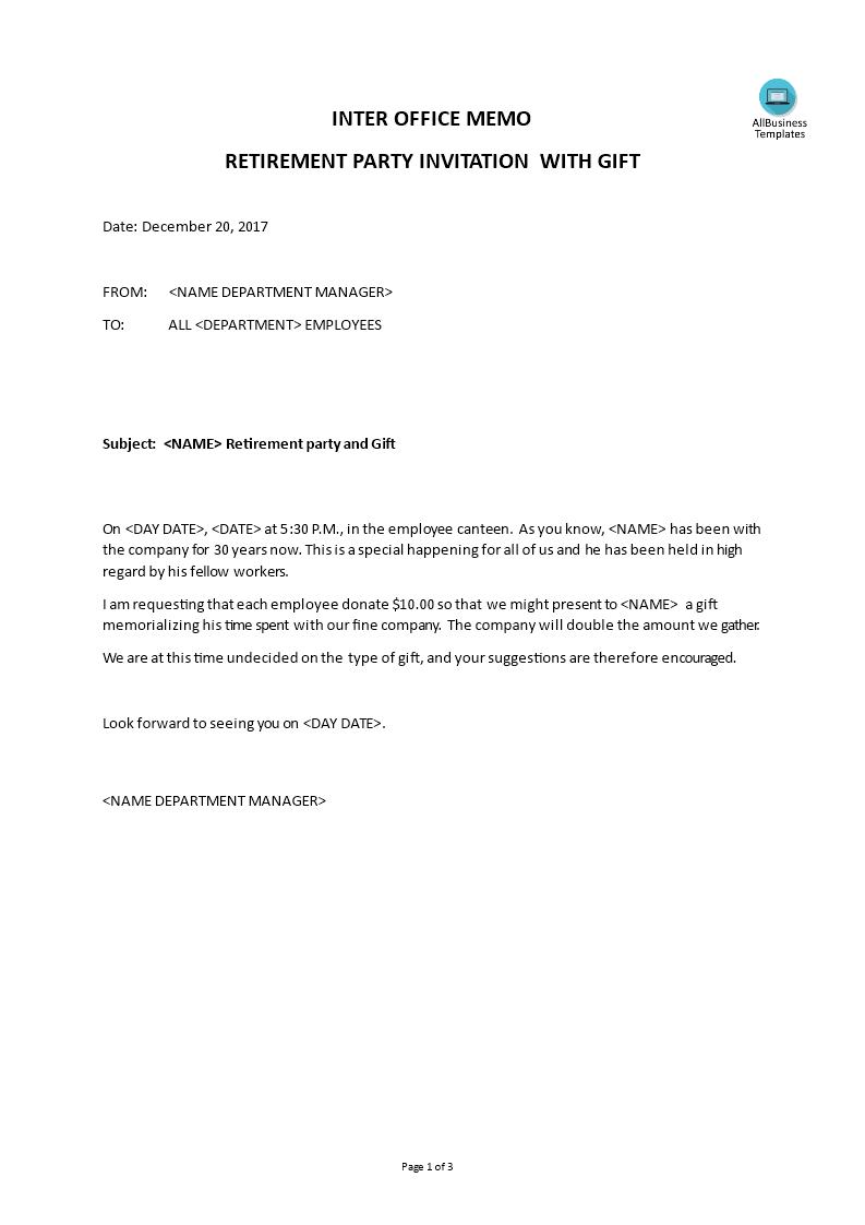 inter memo retirement party invitation templates at