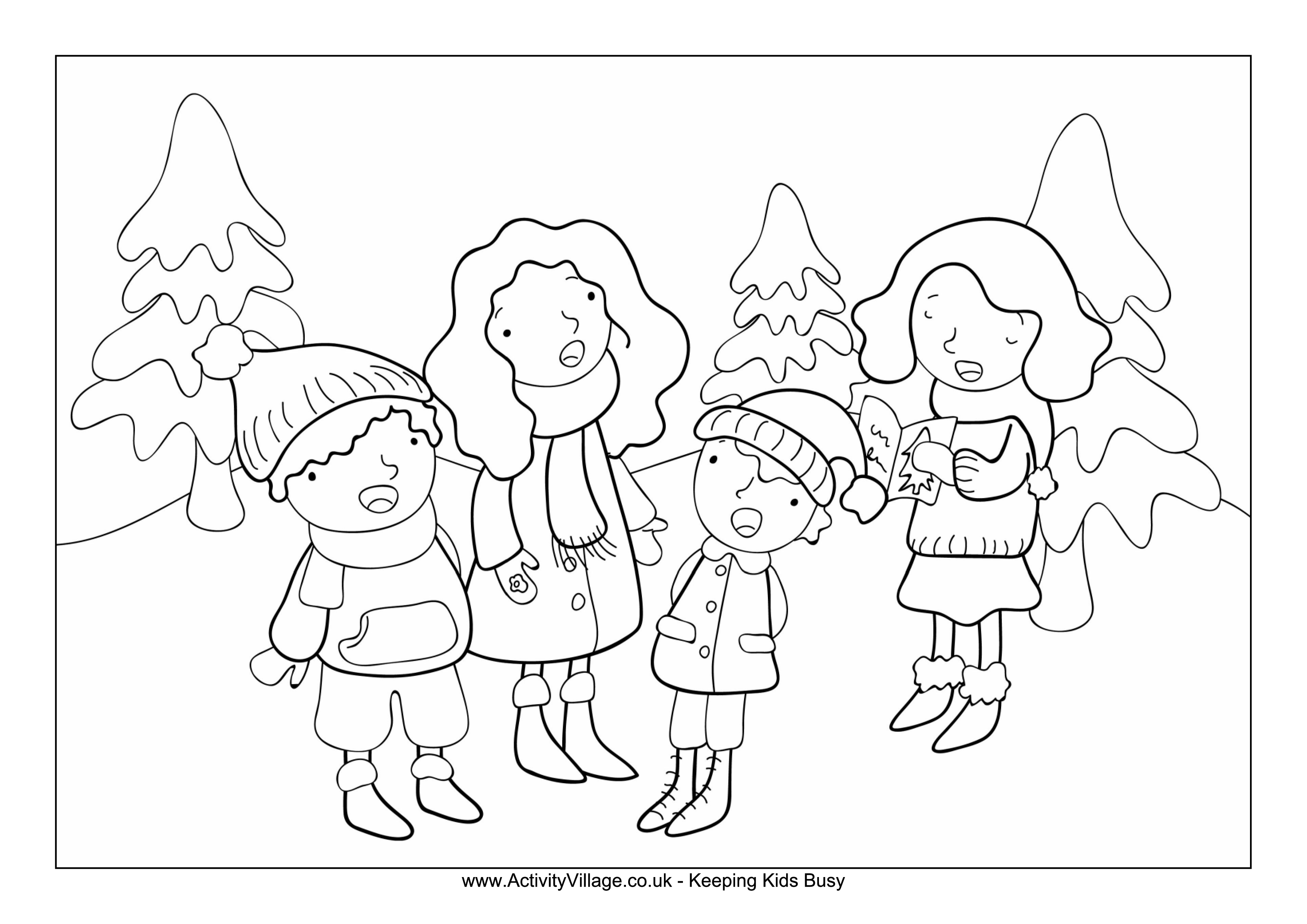 Free Christmas Coloring Page For Kids Templates At