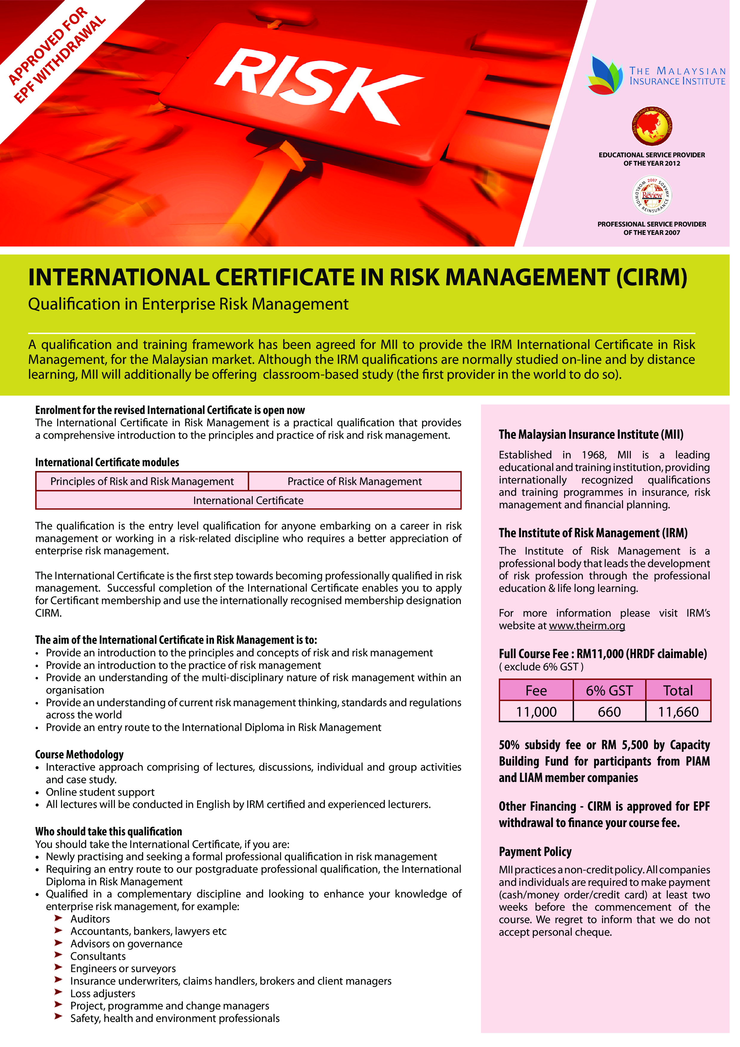 Free Risk Management Training Certificate Templates At