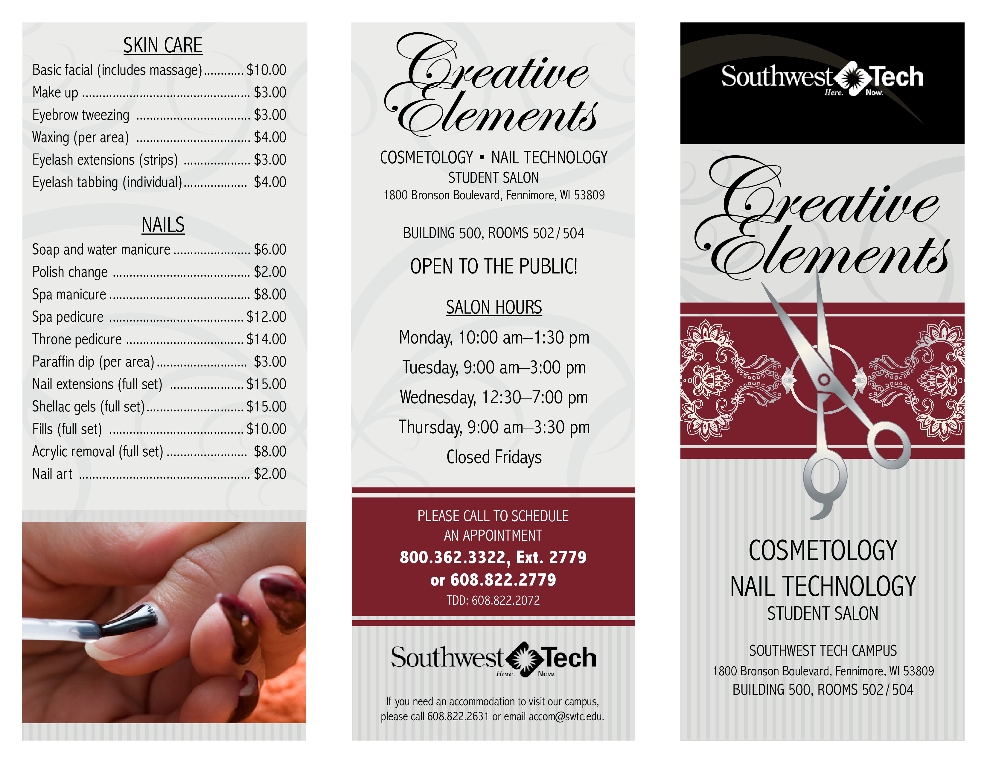 creative elements salon price list templates at
