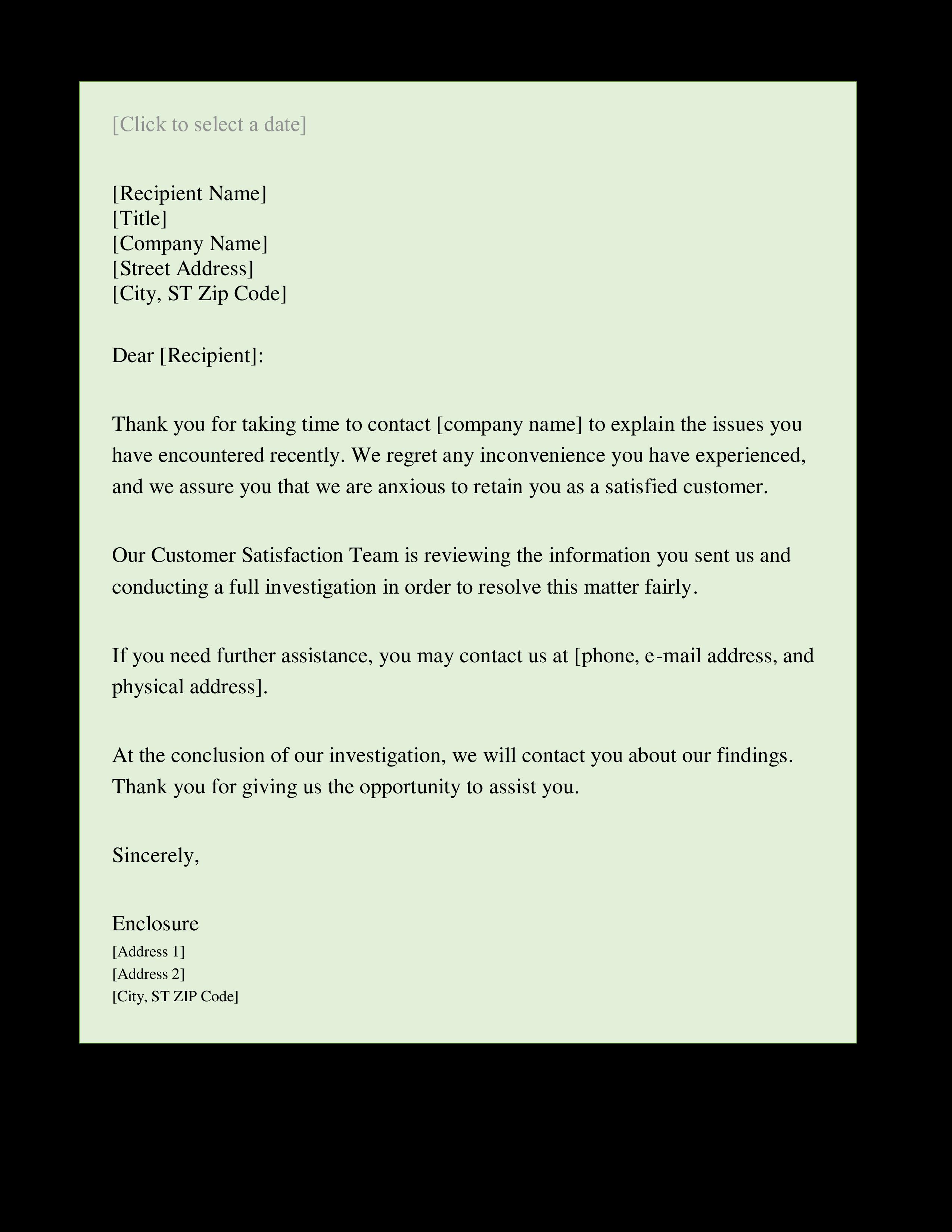 complaint response letter main image download template