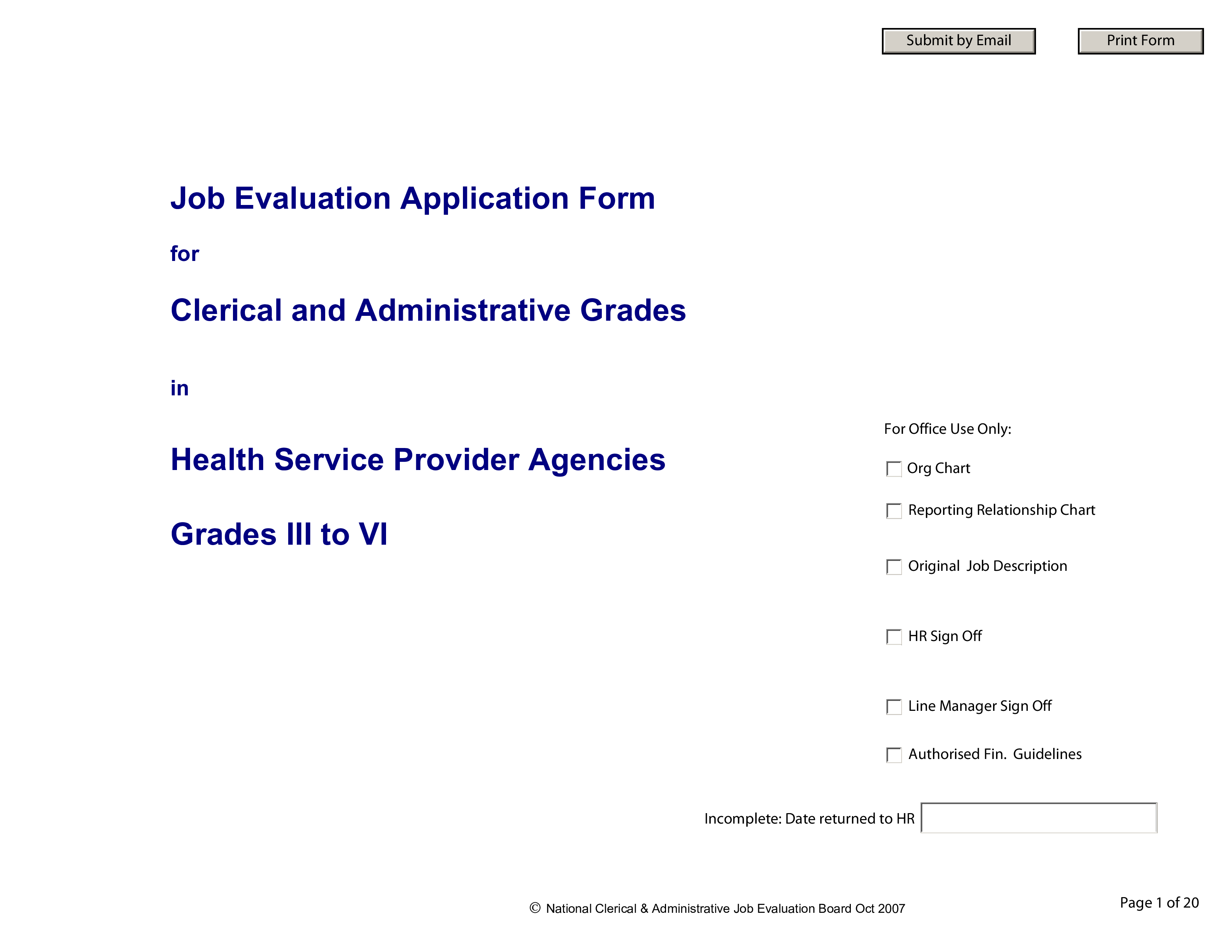 Free Job Evaluation Application Form Templates At