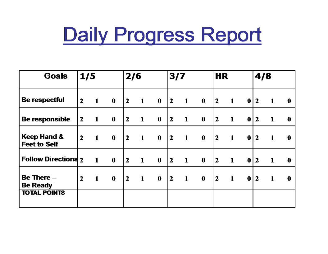 Daily Progress Report template main image
