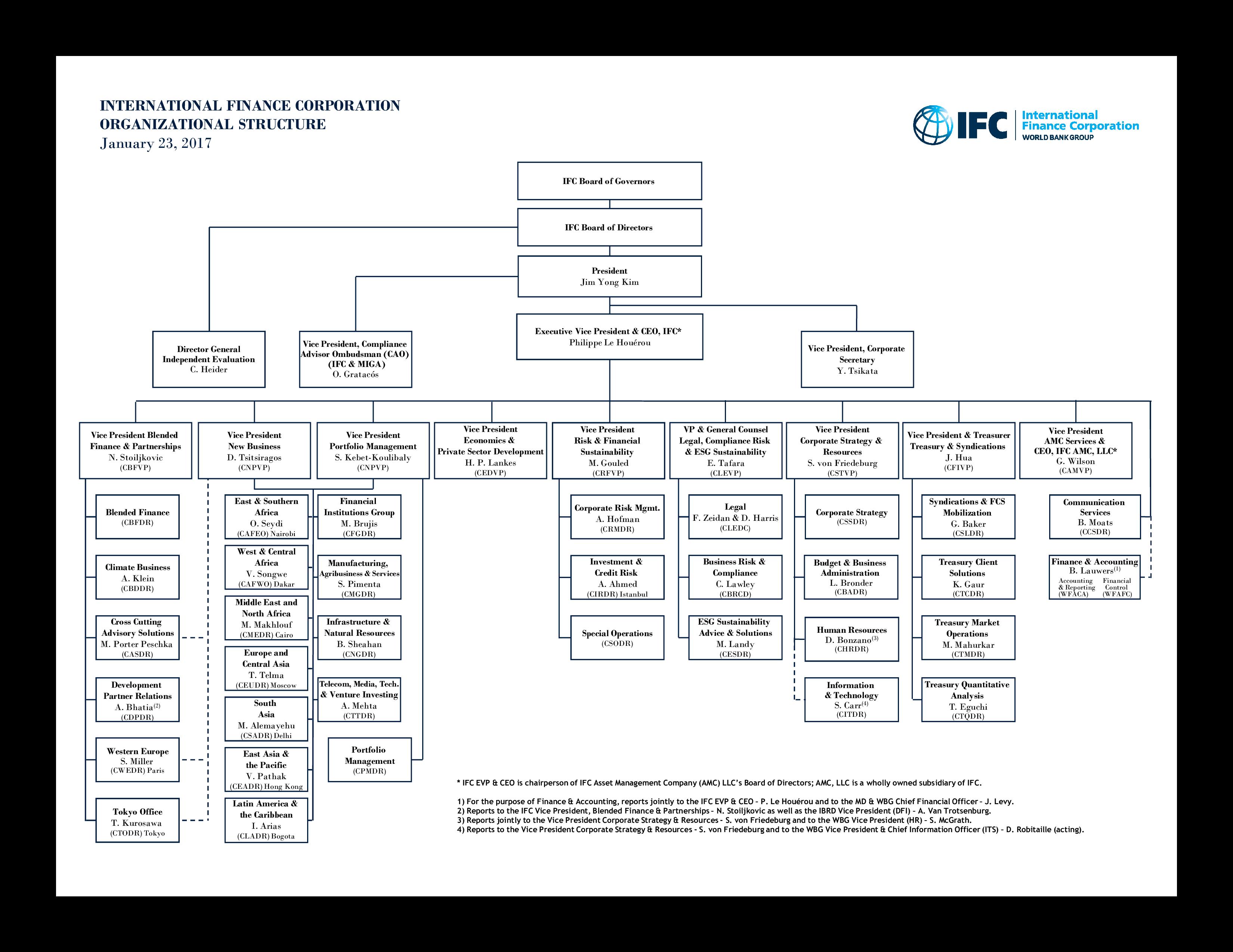 International Finance Corporation Organizational Chart Templates At Allbusinesstemplates Com