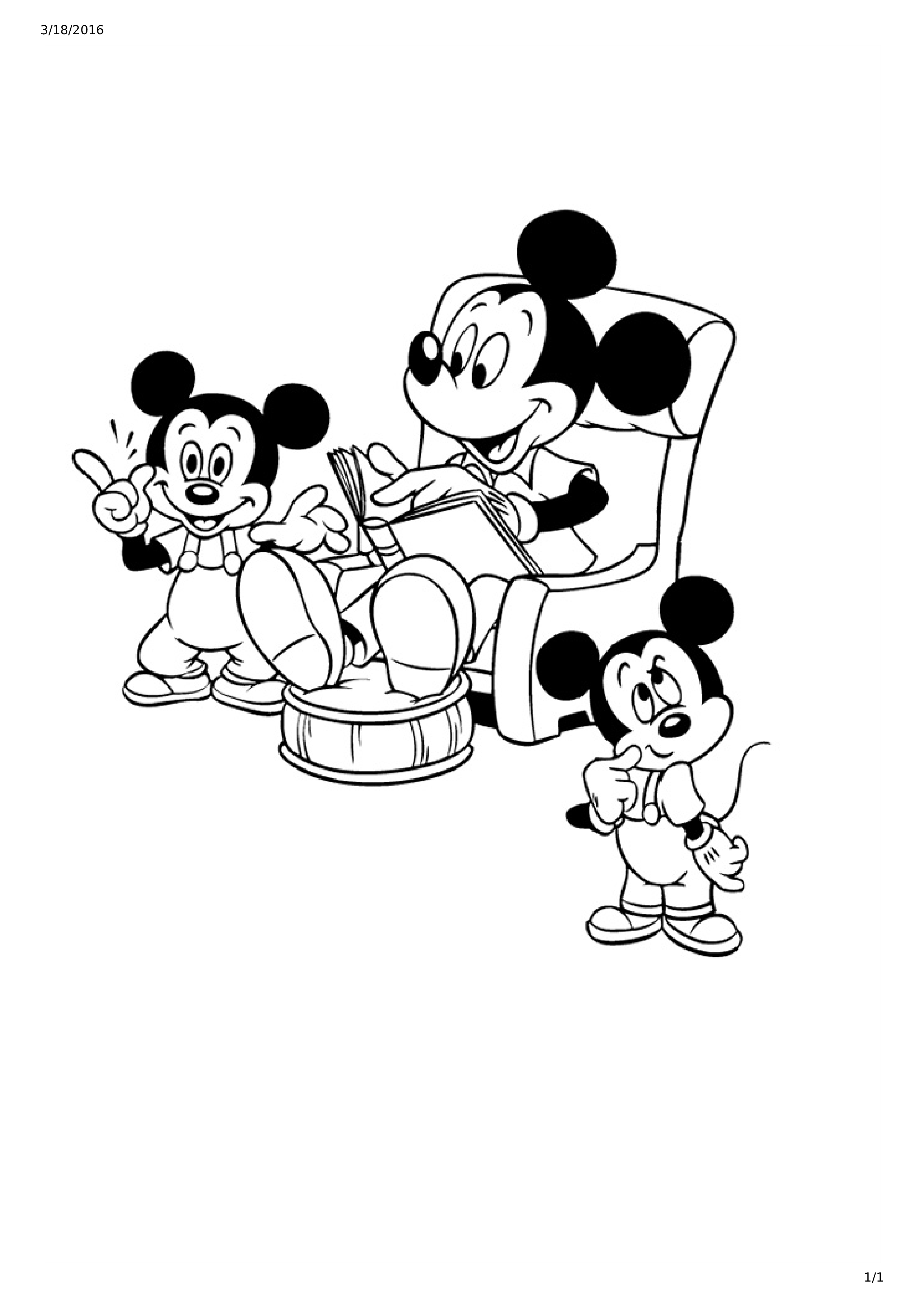 Free Mickey Mouse And Friends Coloring Page For Kids