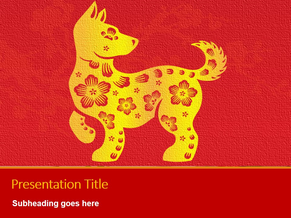 Free Chinese New Year Dog 2018 Presentation Templates At