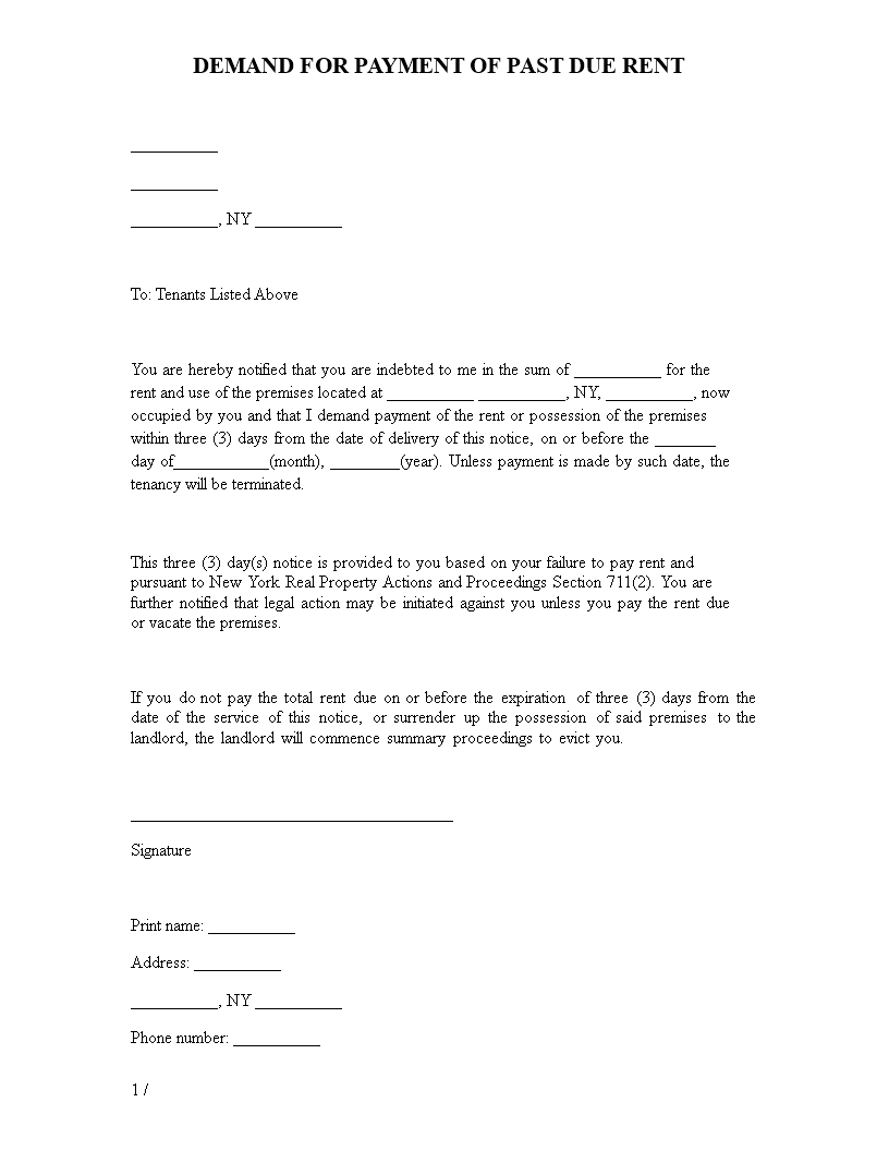 Free Printable Landlord Eviction Notice Templates At - Formal eviction notice template