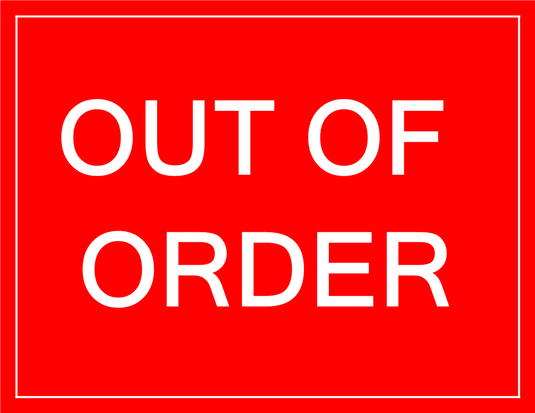 photograph regarding Out of Order Sign Template known as Out of Acquire signal Templates at