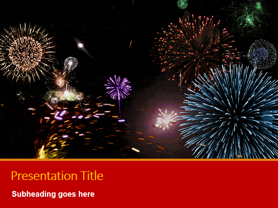 Chinese New Year Fireworks Ppt Presentation Templates At