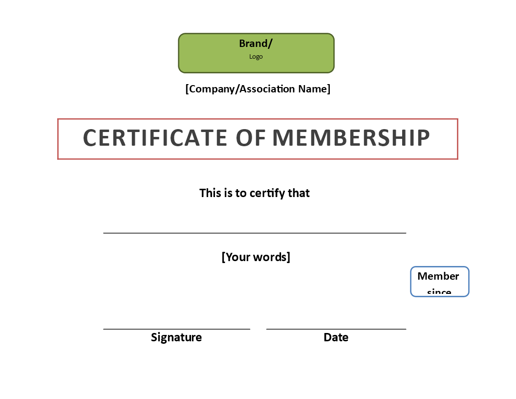 Free Certificate Of Membership Templates At Allbusinesstemplates