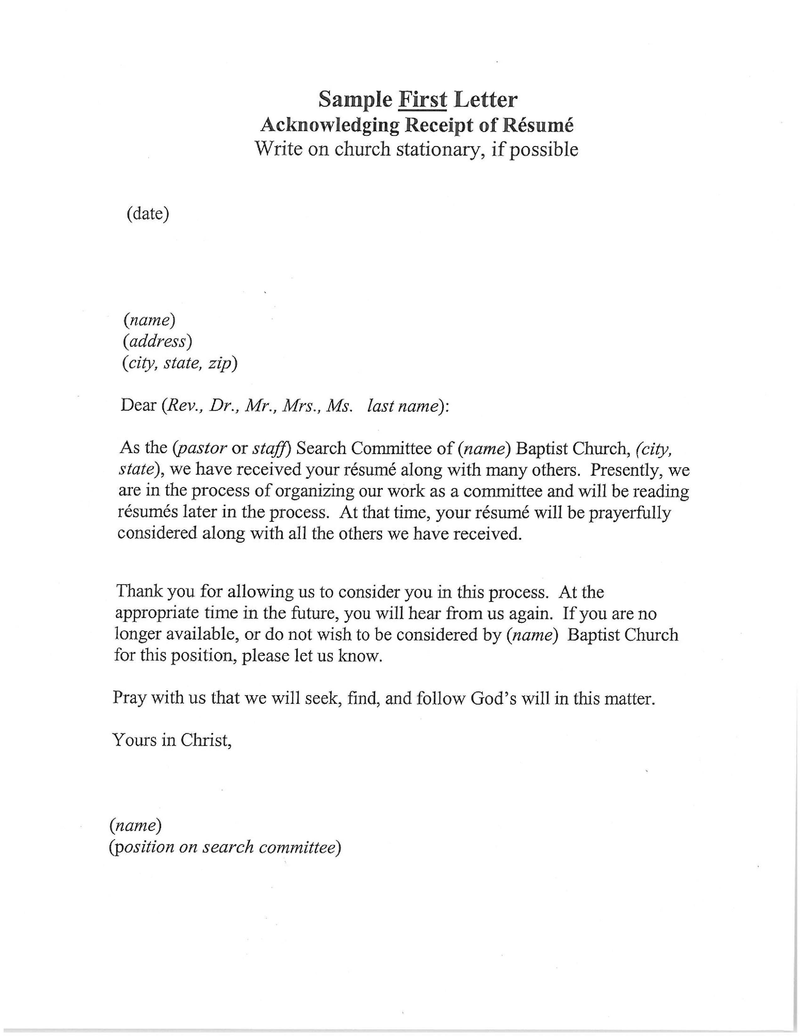 Acknowledgement Receipt Letter Template.Resume Acknowledgement Receipt Letter Templates At