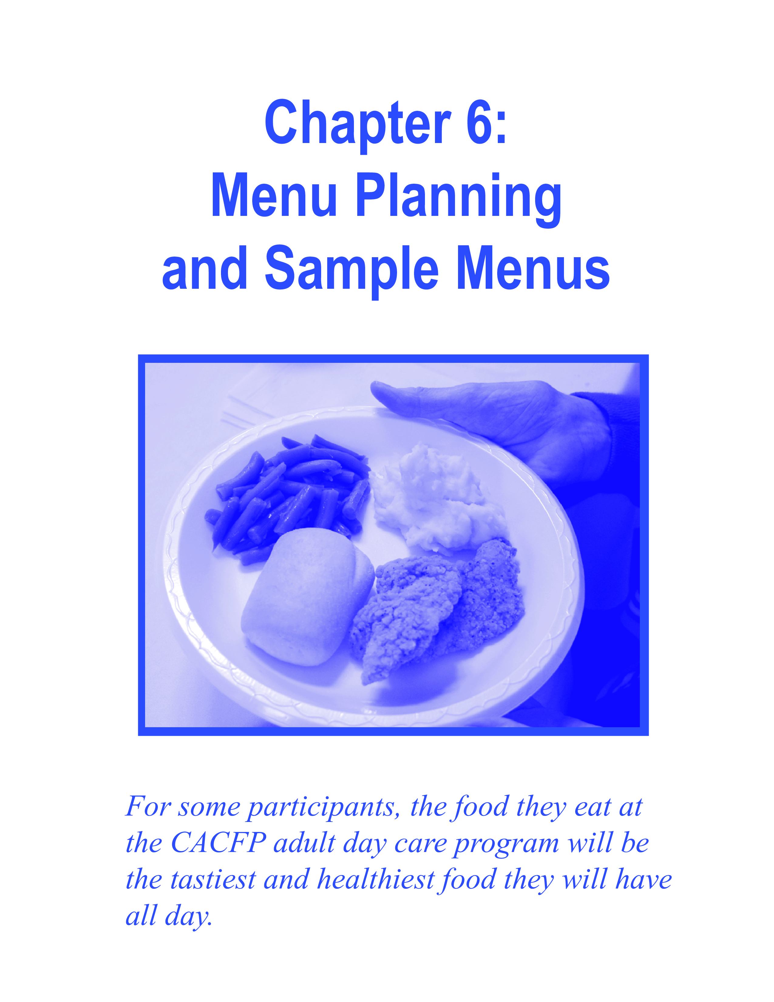 free daycare meal plan templates at