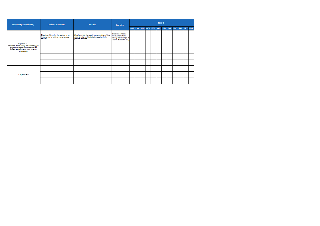 Annual Work Plan Sheet Templates At Allbusinesstemplates Com