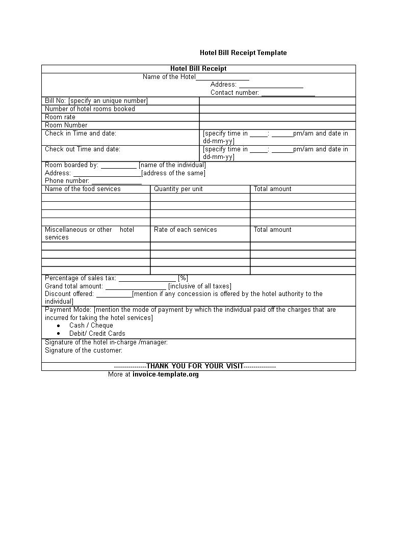 Formal Receipt Templates At Allbusinesstemplates Com