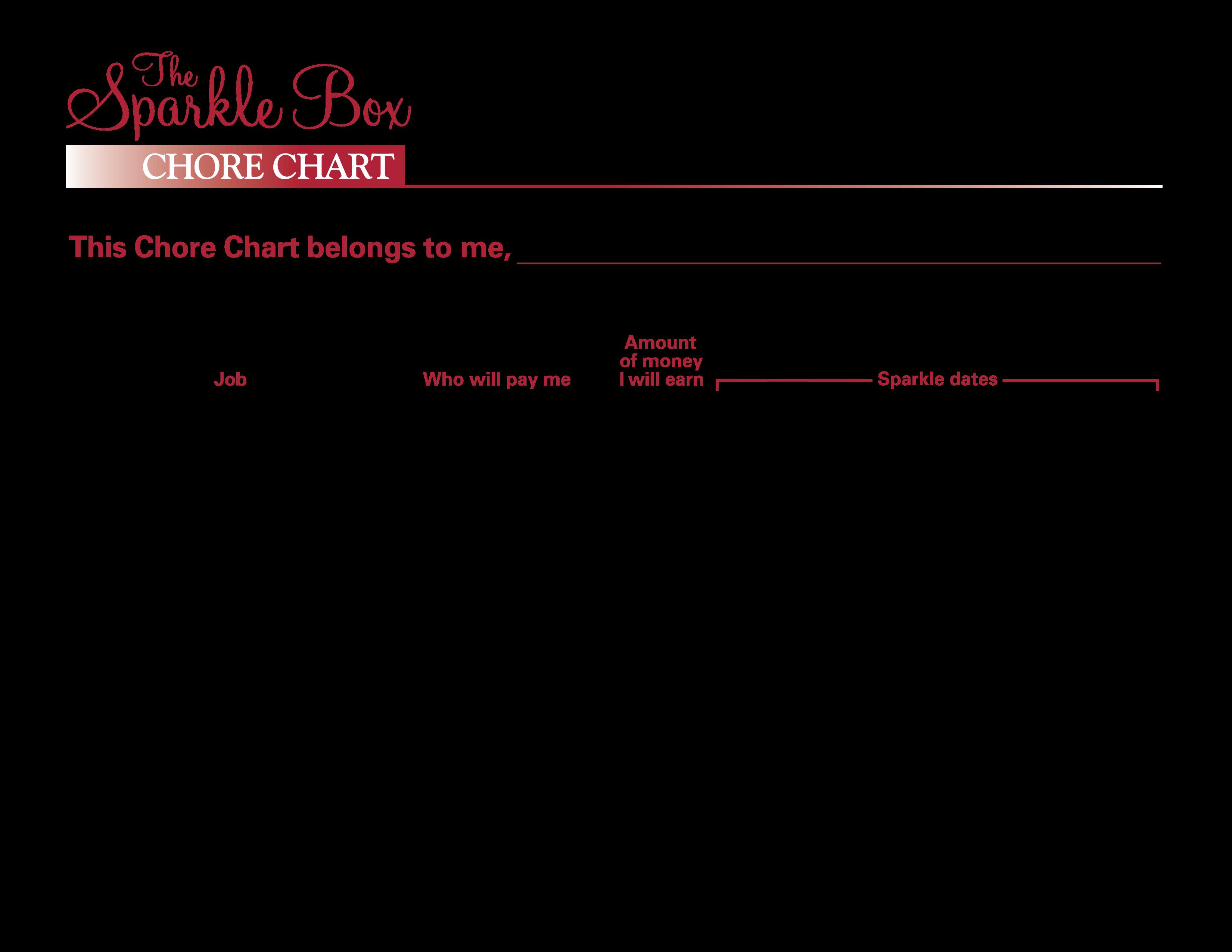 Free Blank Printable Chore Chart Templates at allbusinesstemplatescom