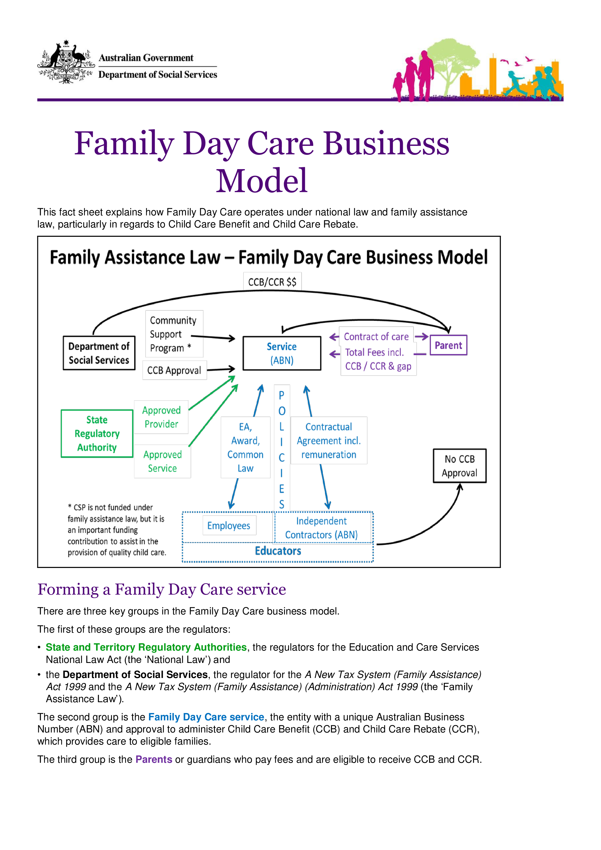 Free Family Daycare Business Marketing Plan Templates At