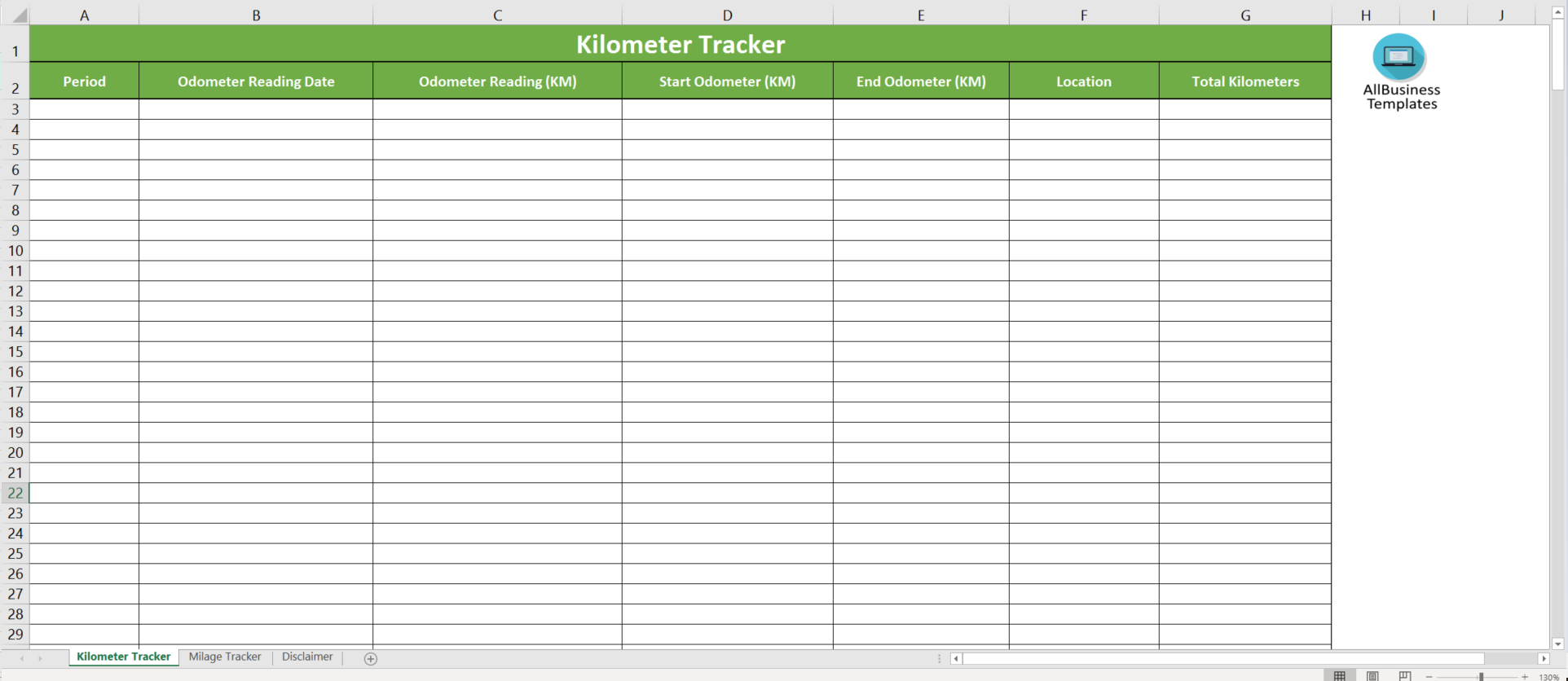 Mileage Log Kilometer Tracker main image