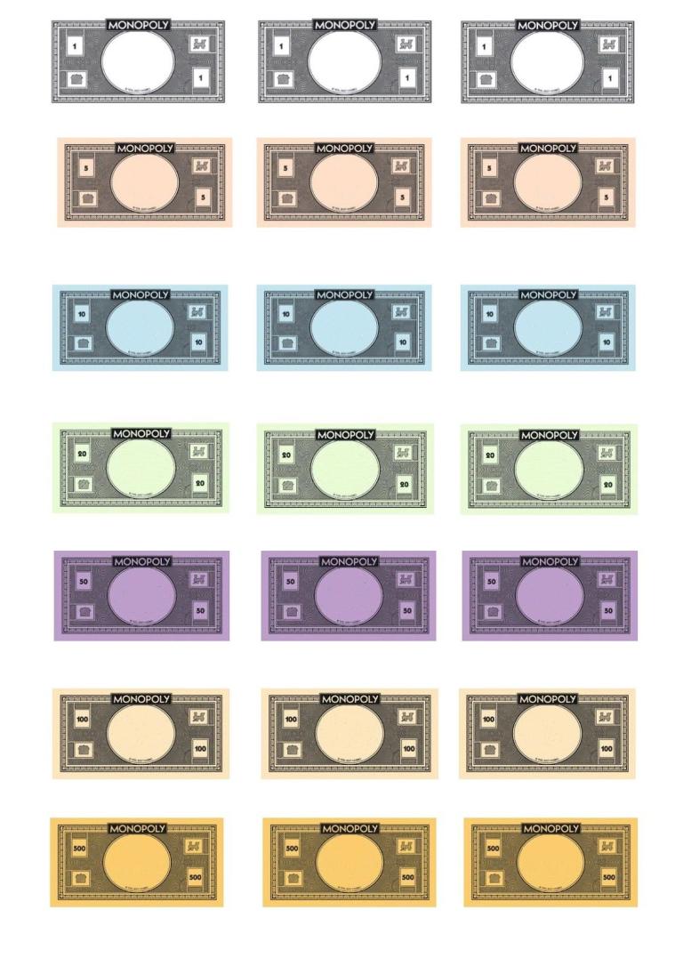 Leere Monopoly Vorlage Etsy Monopoly Cards 8