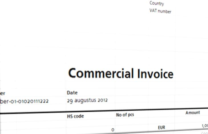 Commercial Invoice Template  Templates At AllbusinesstemplatesCom