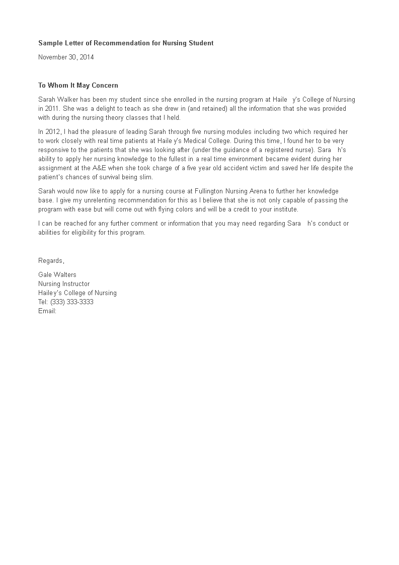 Letter Of Recommendation For Student Template from www.allbusinesstemplates.com