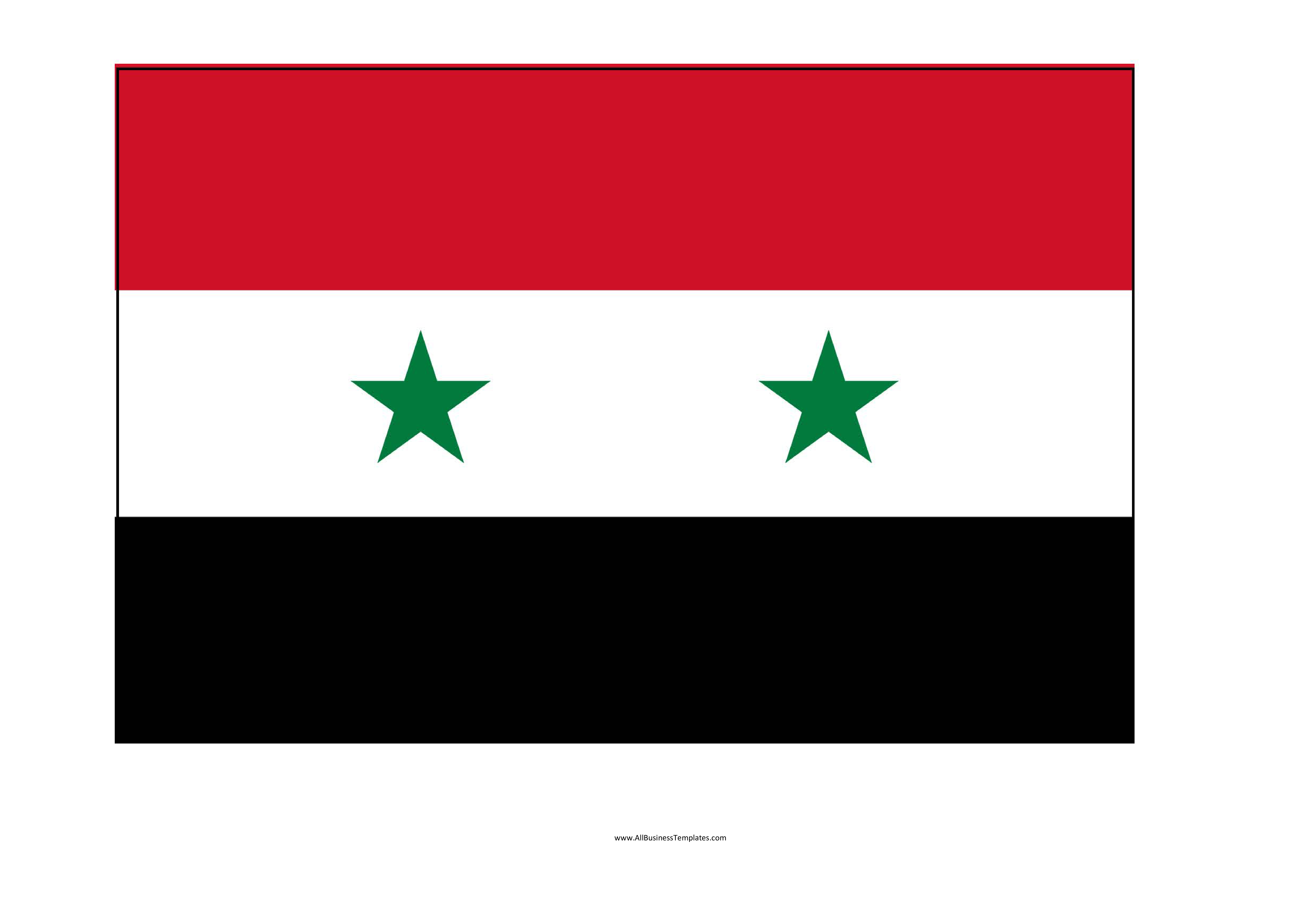 Syria Printable Flag Main Image Download Template