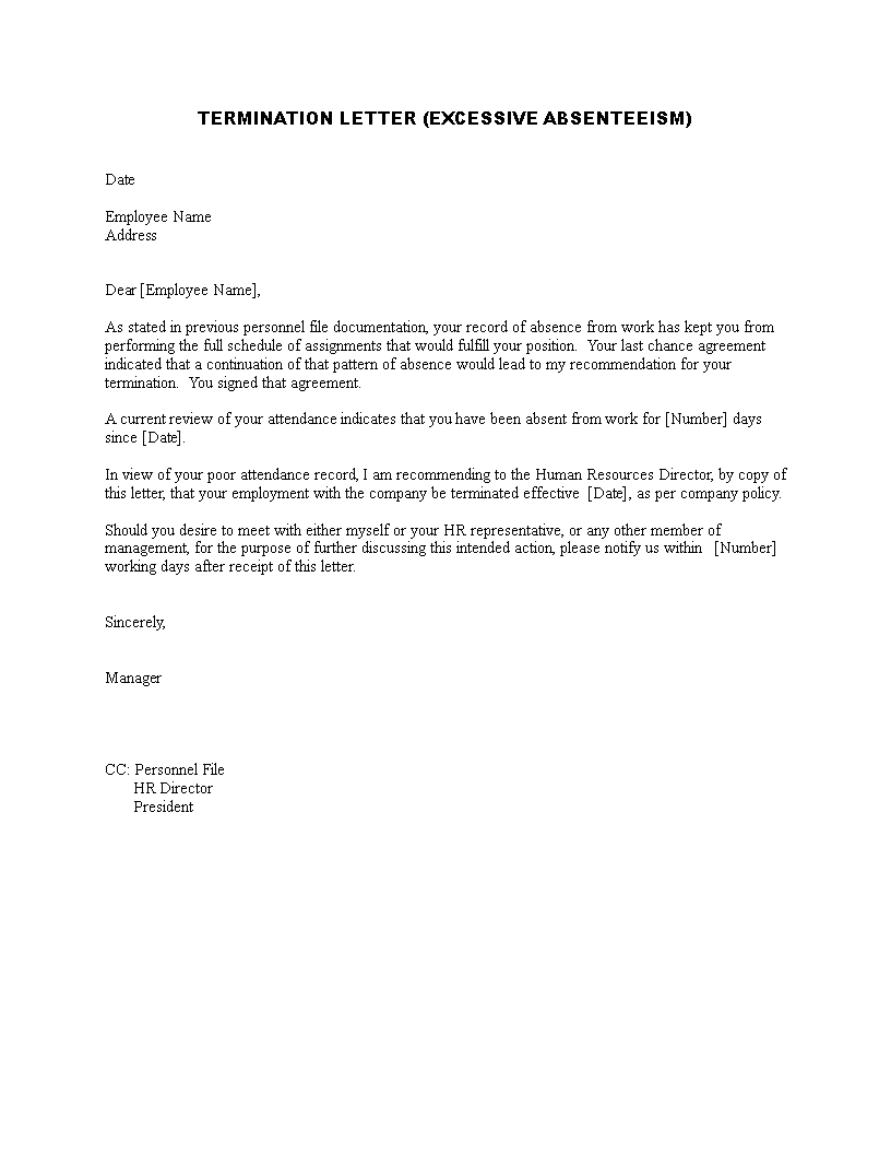 Termination Letter Of Business Management main image