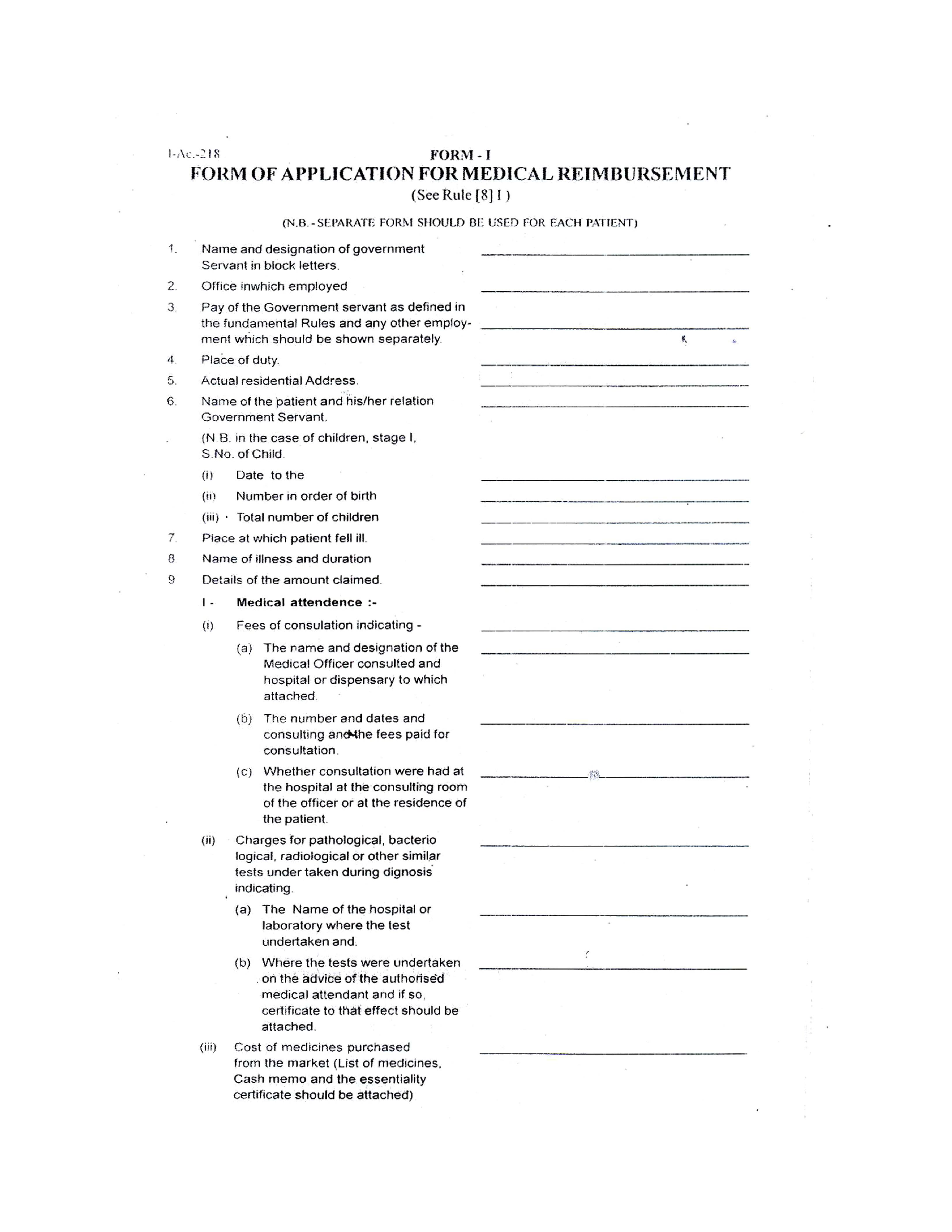 Medical Reimbursement Form Templates At Allbusinesstemplates Com
