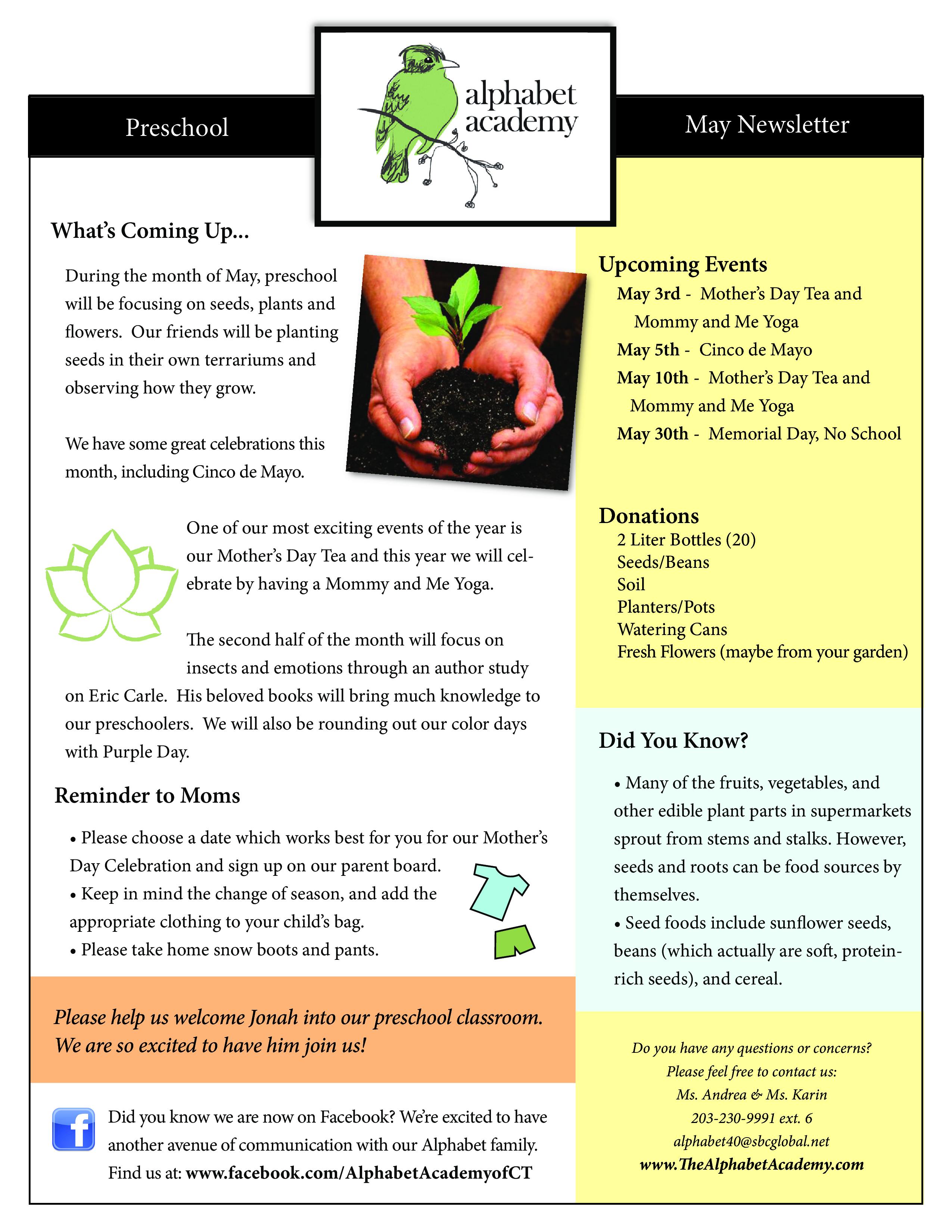 preschool newsletter samples main image