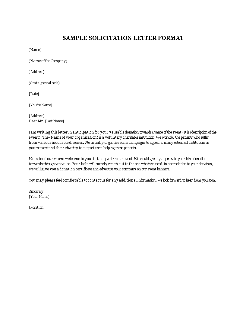 Free solicitation letter format templates at solicitation letter format main image download template spiritdancerdesigns Choice Image