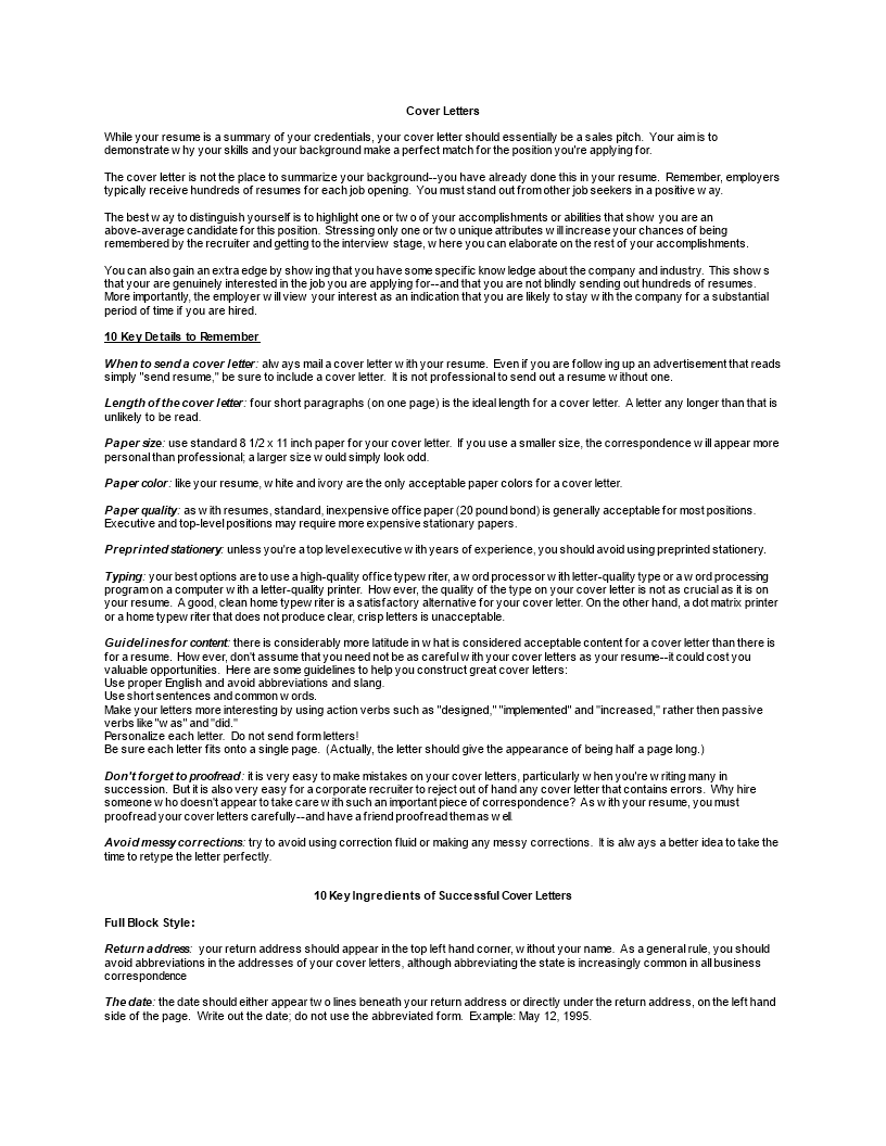 free personal statements resume cover letter templates at