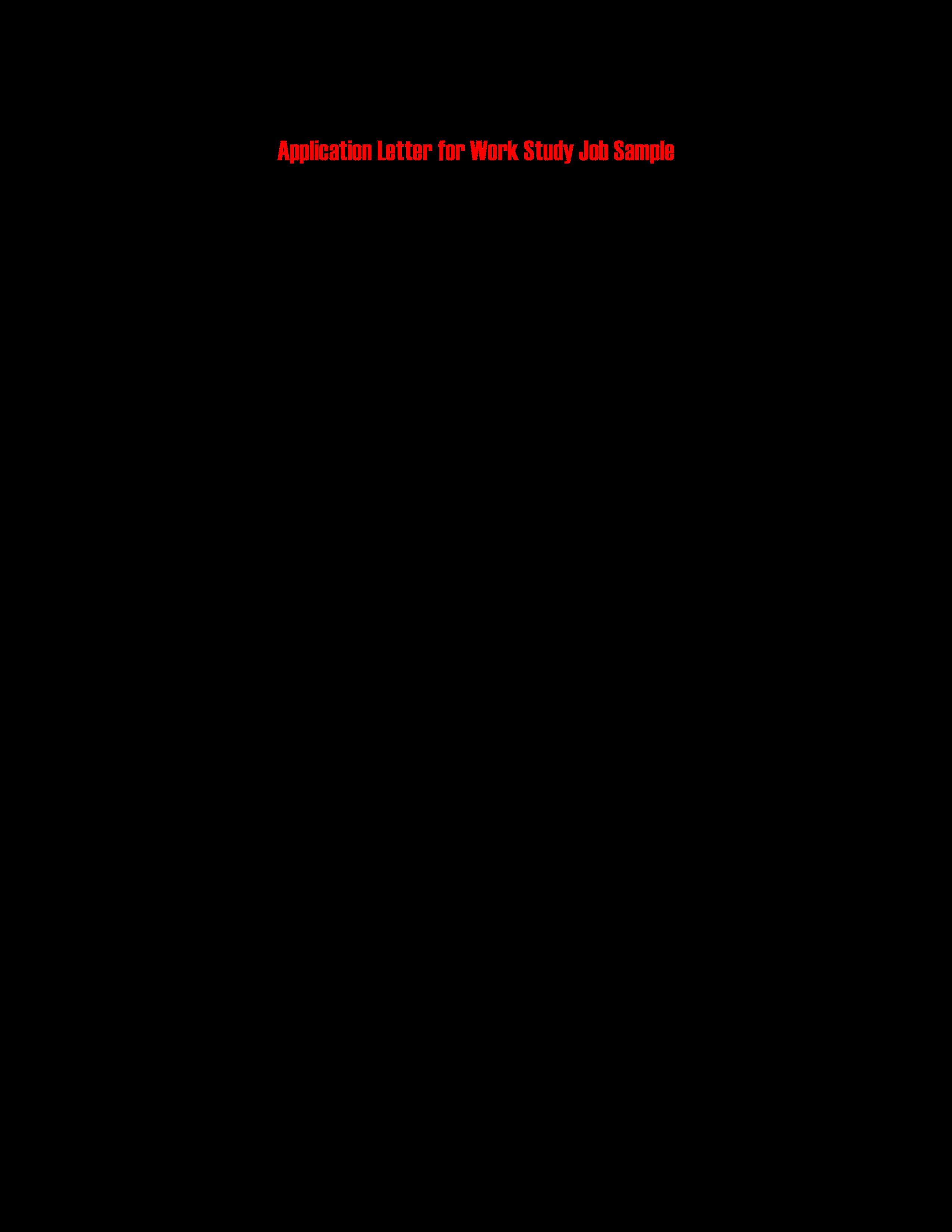 work application letter format main image