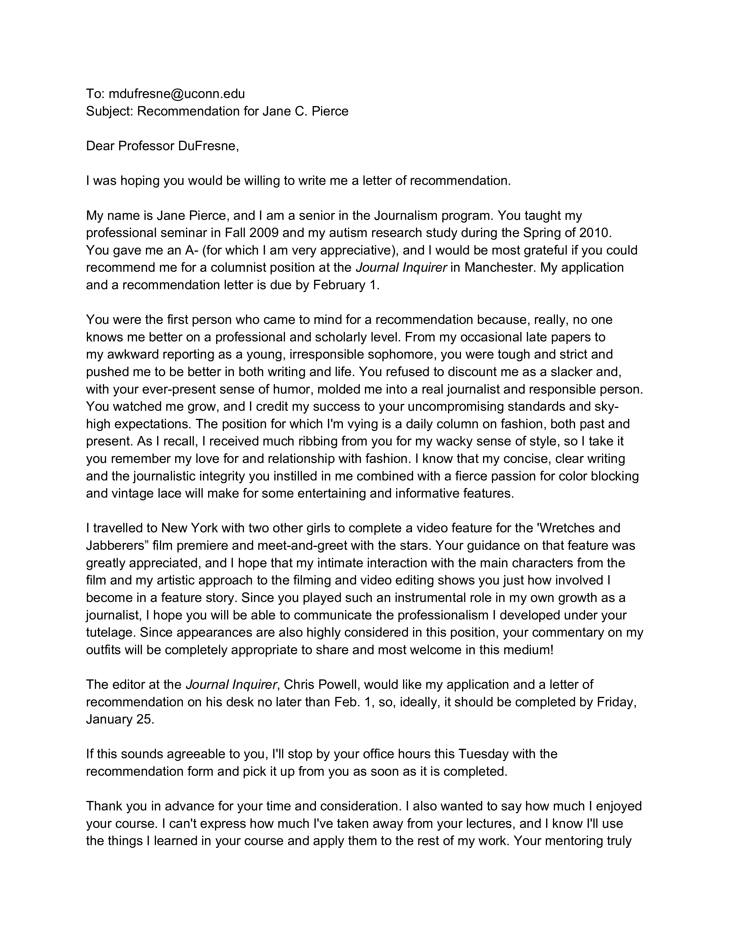 Free recommendation letter request for professor templates at recommendation letter request for professor main image spiritdancerdesigns Choice Image