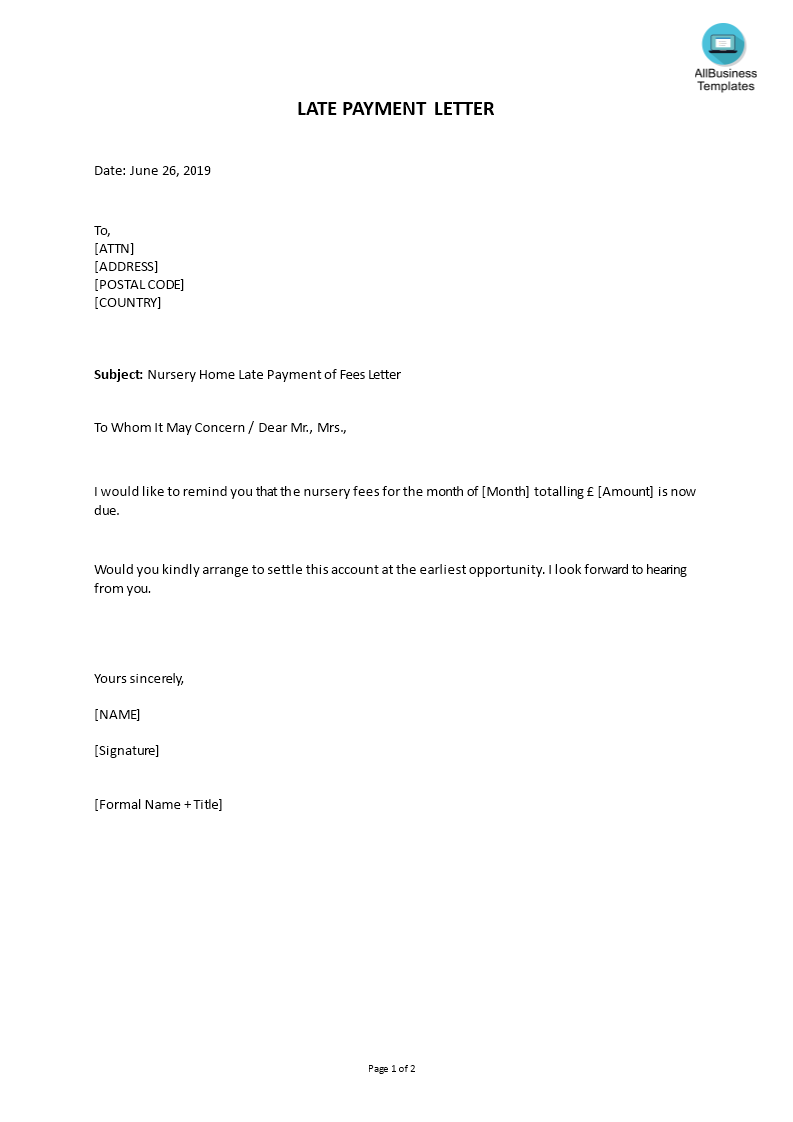 late payment letter main image download template