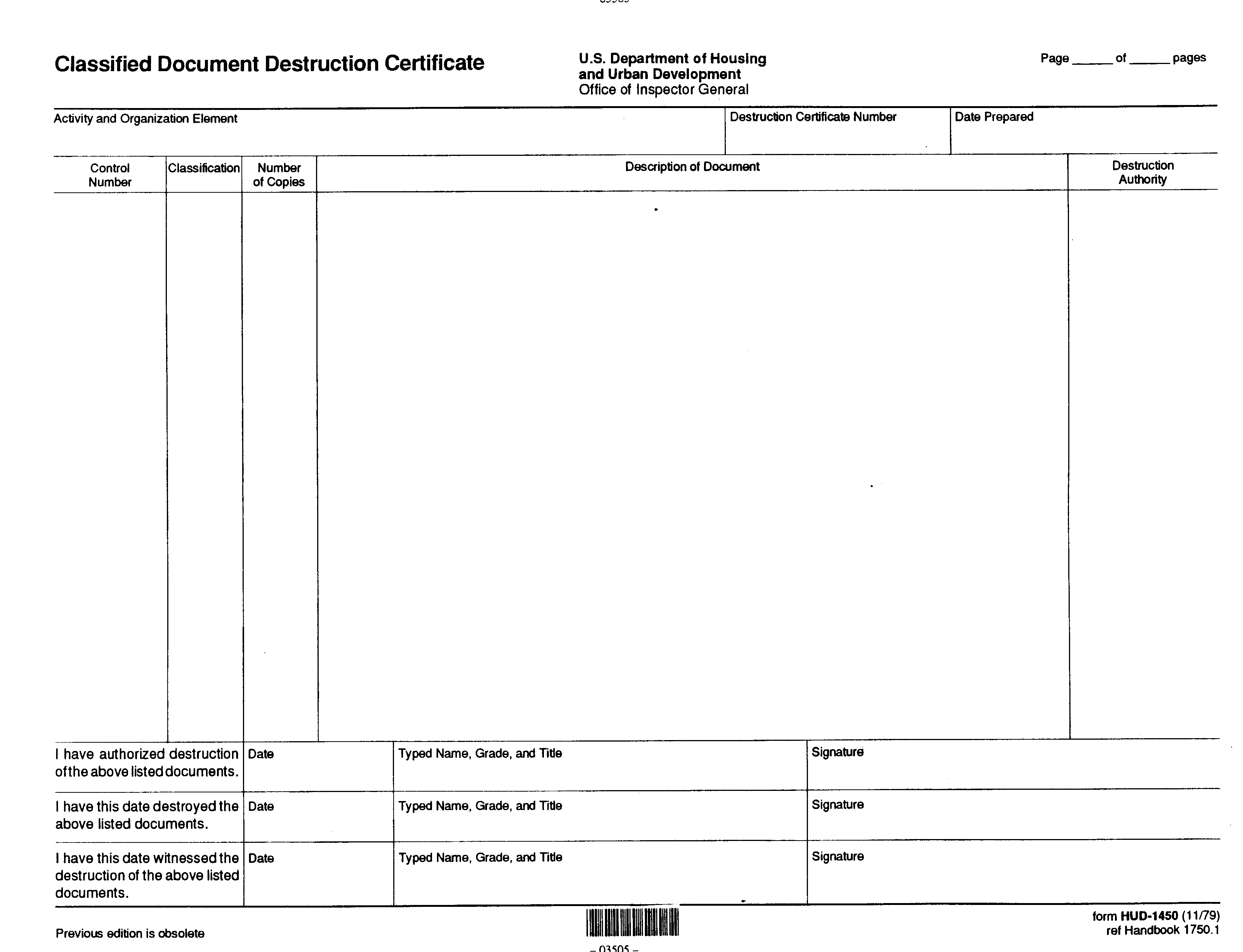 Free Certificate Of Document Destruction Templates At